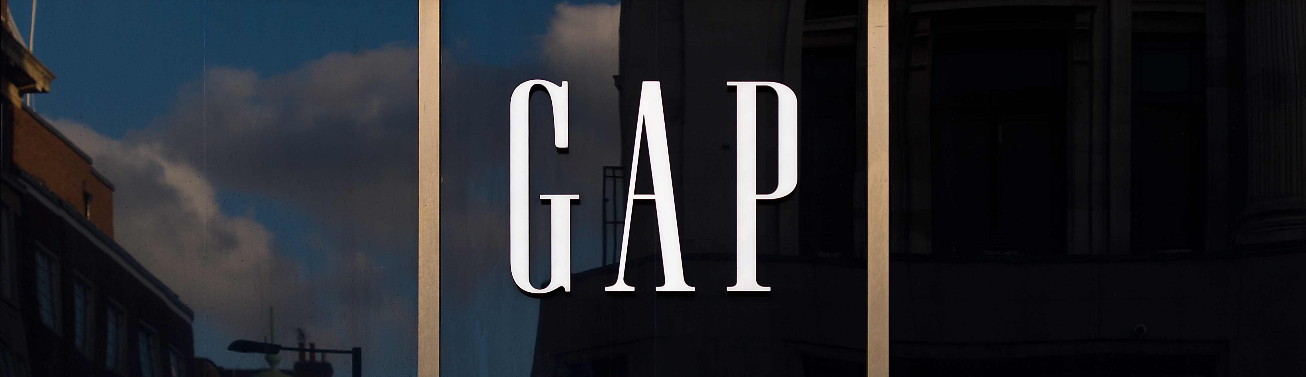 Signage on the exterior of fashion retailer Gap's Oxford Street store in London on Feb. 11, 2016.