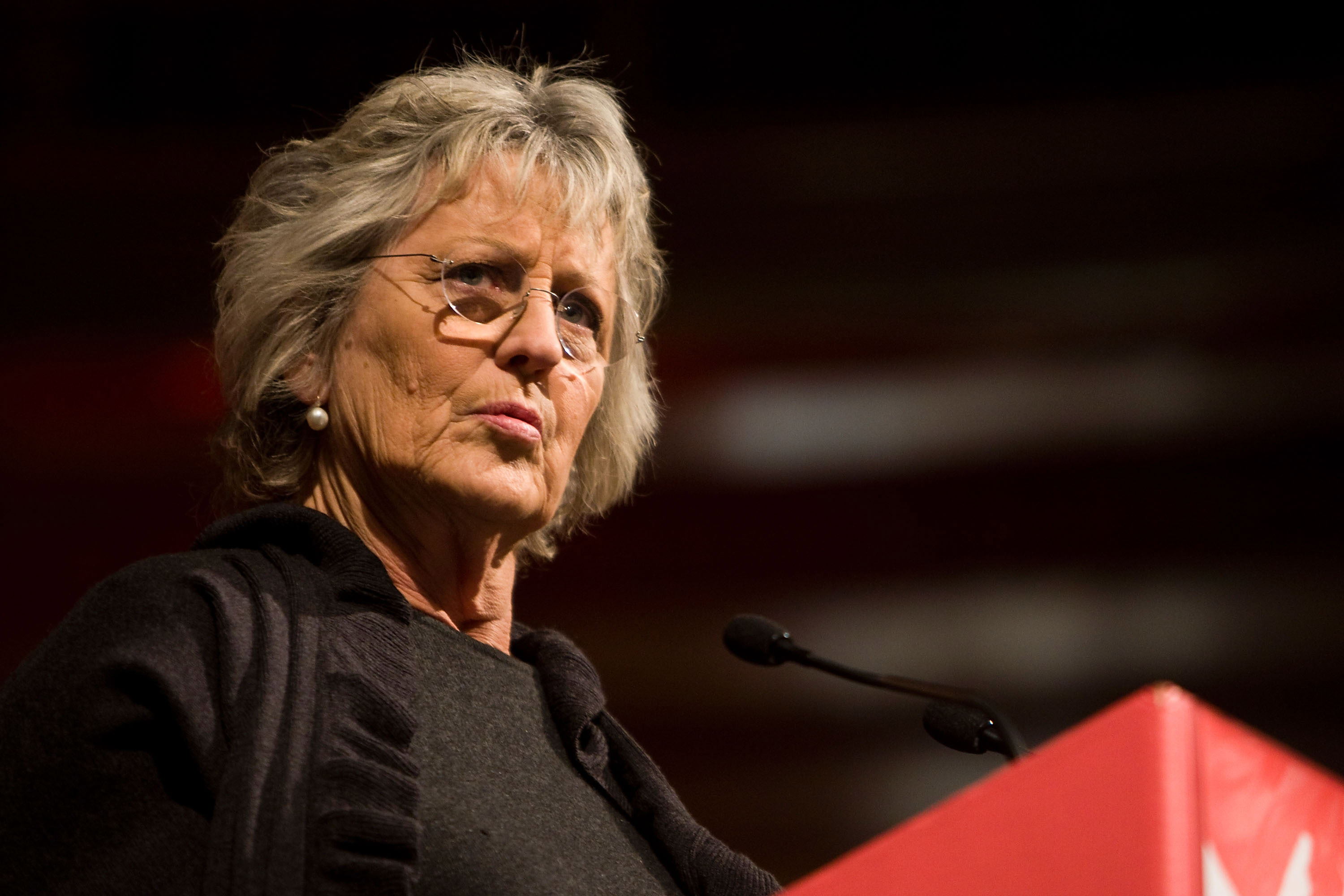 Germaine Greer speaks at The Age Book of the Year Awards as part of the opening night of the Melbourne Writers Festival on August 22, 2008 in Melbourne, Australia.