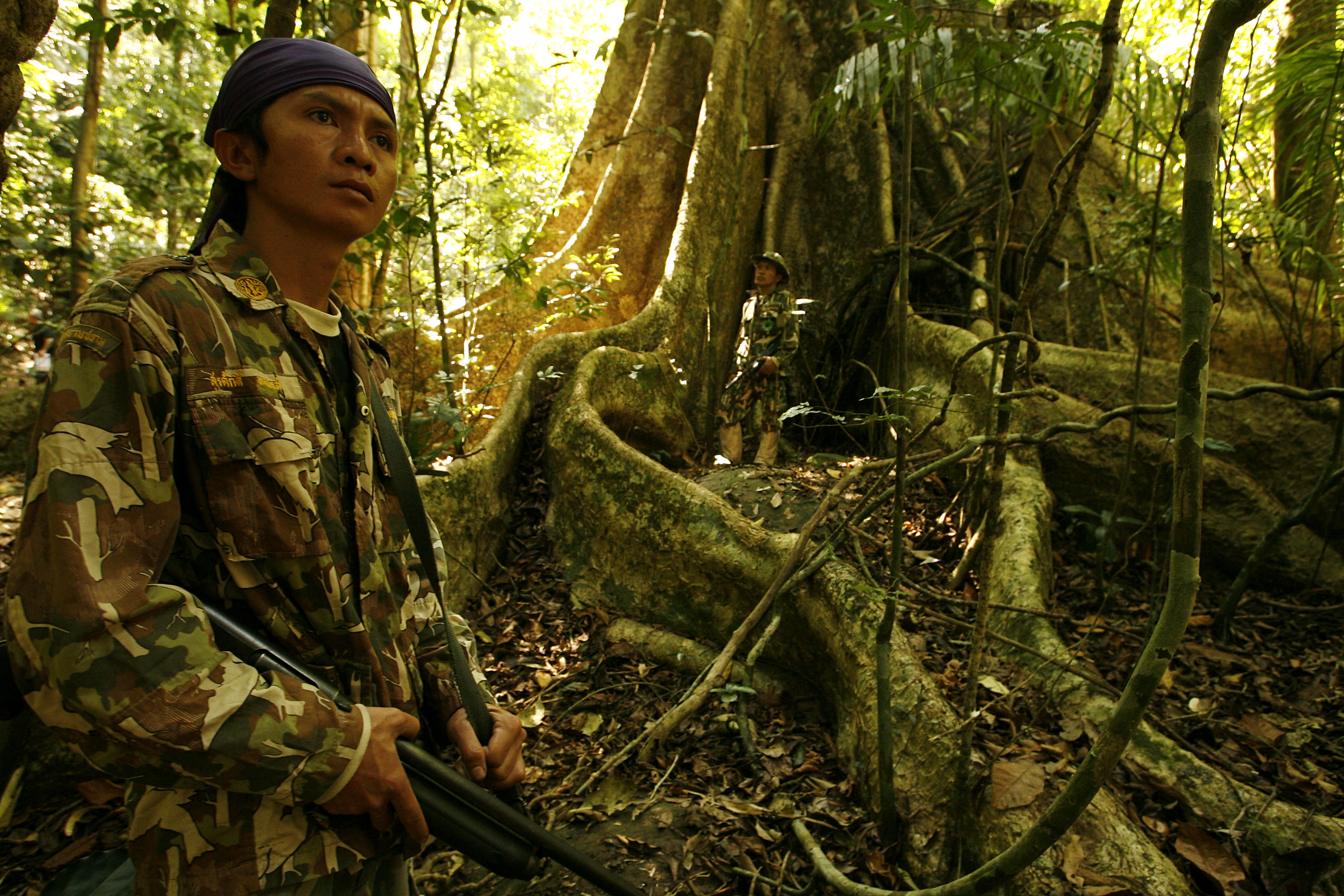 Thai rangers are seen in Khao Yai National Park in February 2008