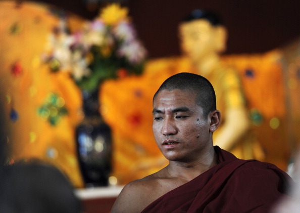 Burmese dissident Buddhist monk Gambira at a monastery in Rangoon on Feb. 19, 2012