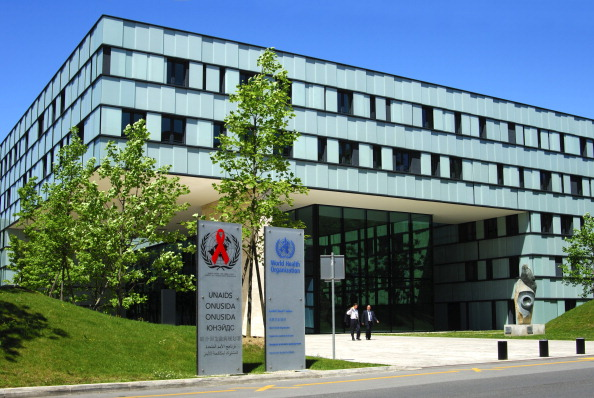 Headquarters of the World Health Organization WHO and of UNAIDS, Geneva, Switzerland. (Photo by: MyLoupe/UIG via Getty Images)