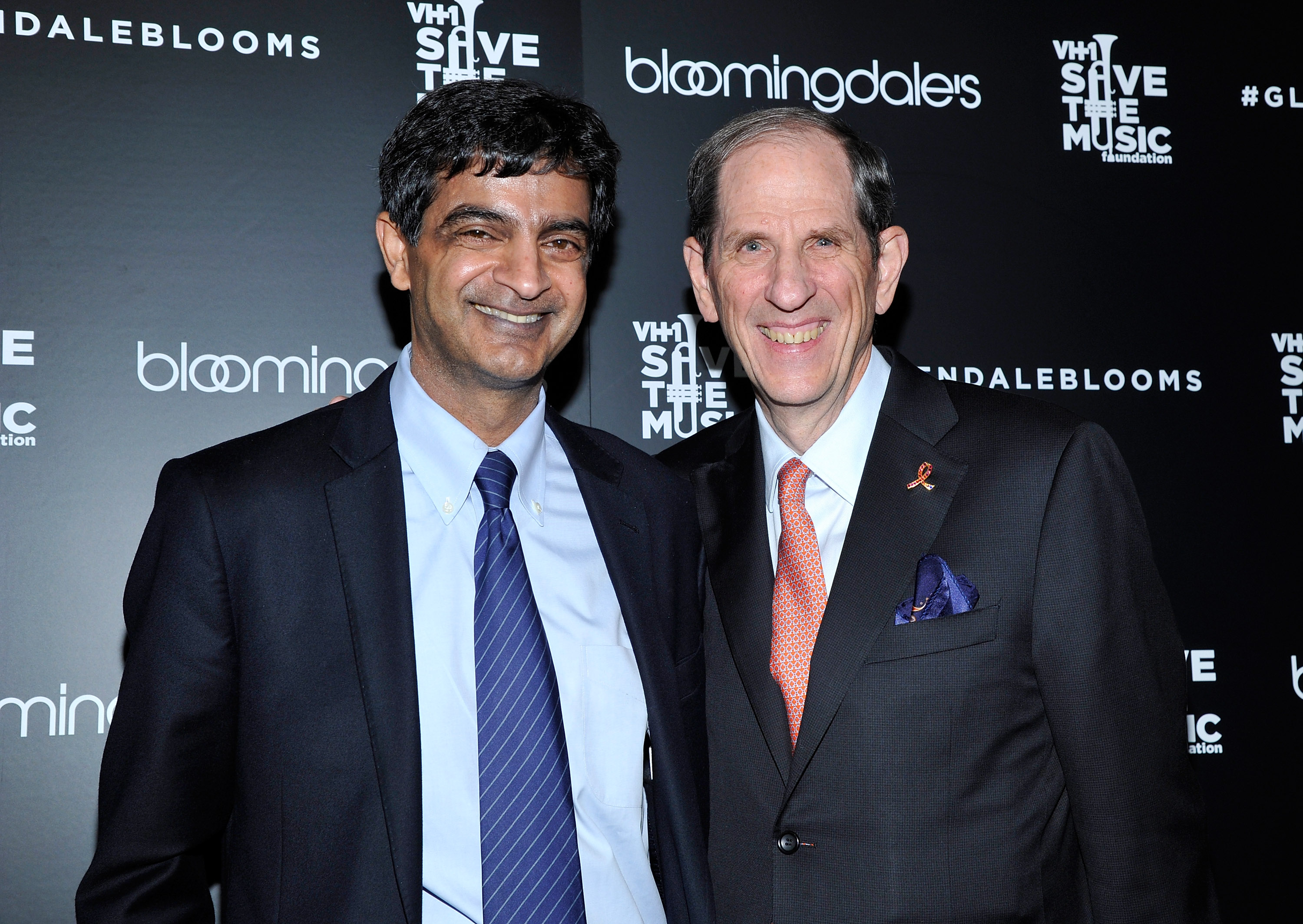 Sandeep Mathrani and Michael Gould, Bloomingdale's chairman and CEO attend Bloomingdale's Glendale opening gala celebration with VH1 Save The Music Foundation at Bloomingdale's Glendale on November 6, 2013 in Glendale, California.