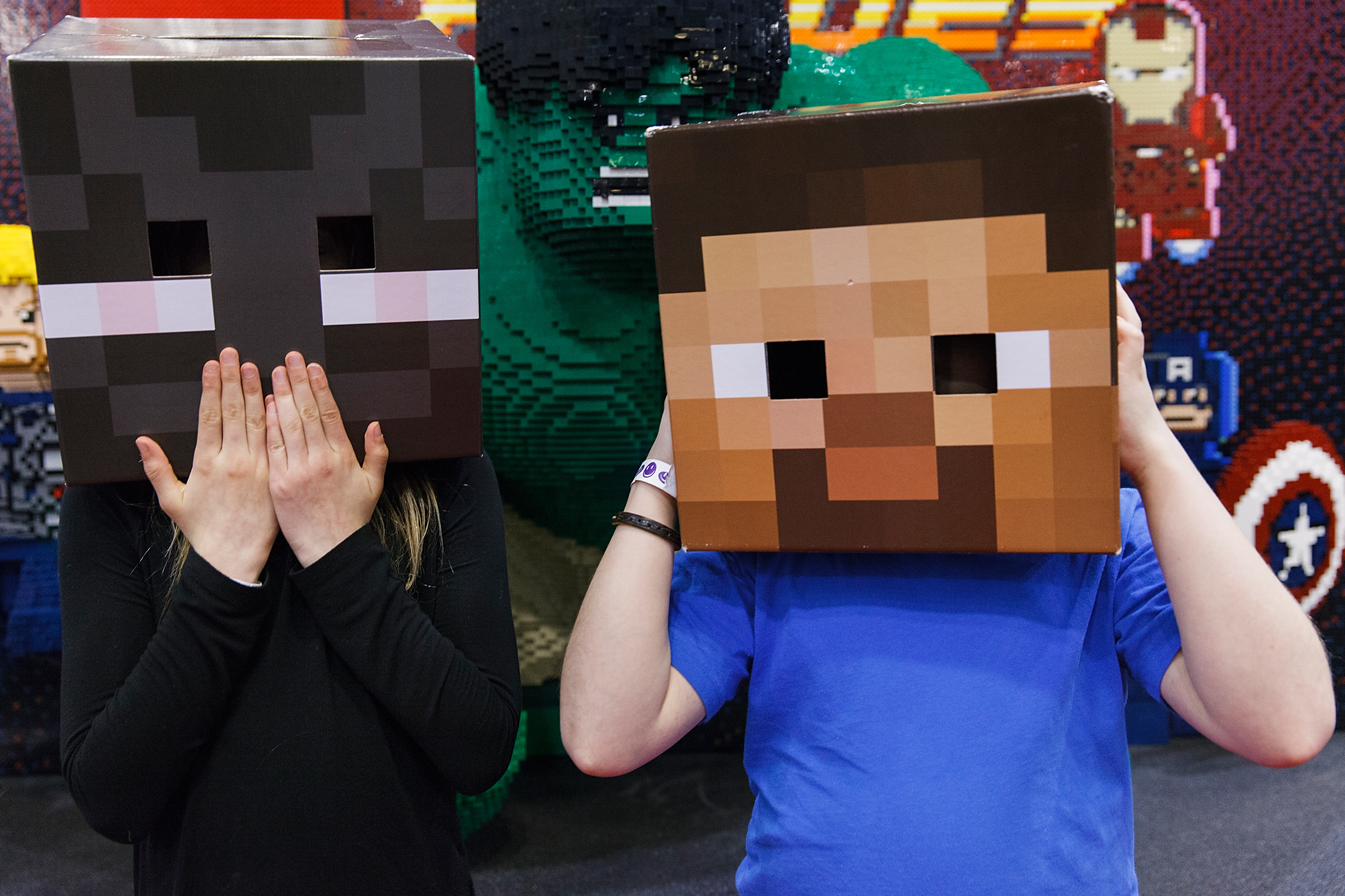 Minecraft fans during Fan Expo Vancouver 2015 at the Vancouver Convention Centre on April 3, 2015 in Vancouver, Canada.