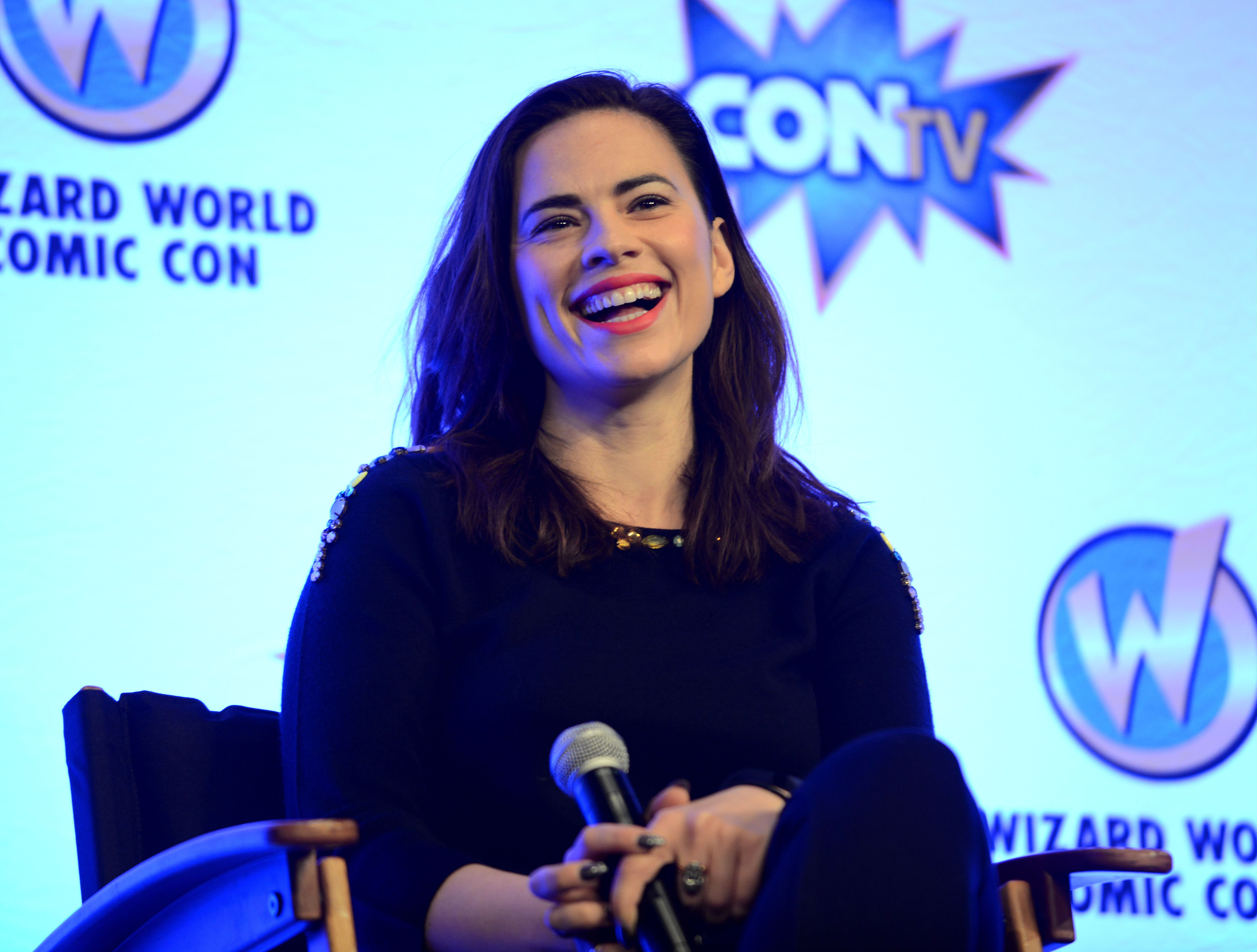 Actress Hayley Atwell on day 2 of Wizard World Comic Con New Orleans held at New Orleans Morial Convention Center on January 9, 2016 in New Orleans, Louisiana.  Albert L. Ortega—Getty Images