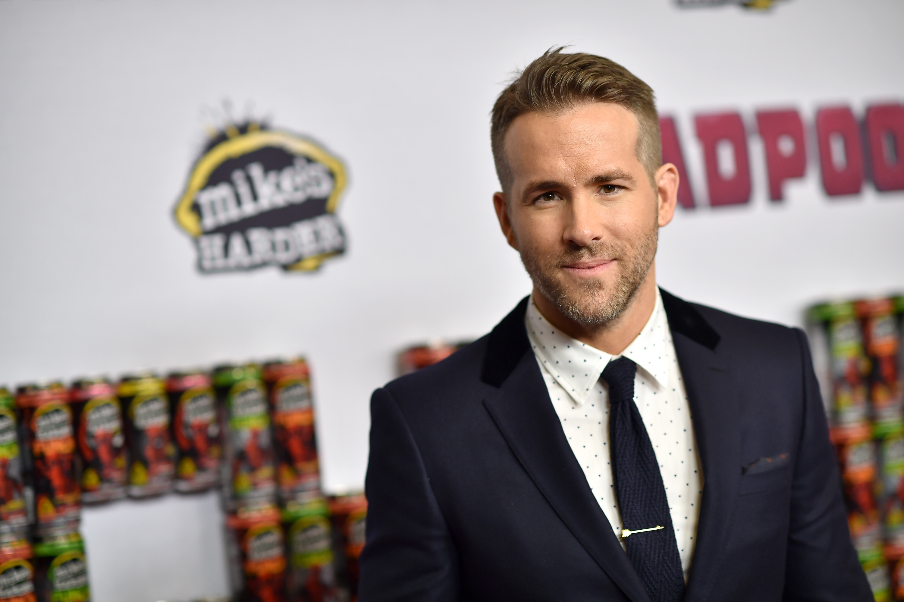 Actor Ryan Reynolds attends the 'Deadpool' fan event at AMC Empire Theatre on February 8, 2016, in New York City.