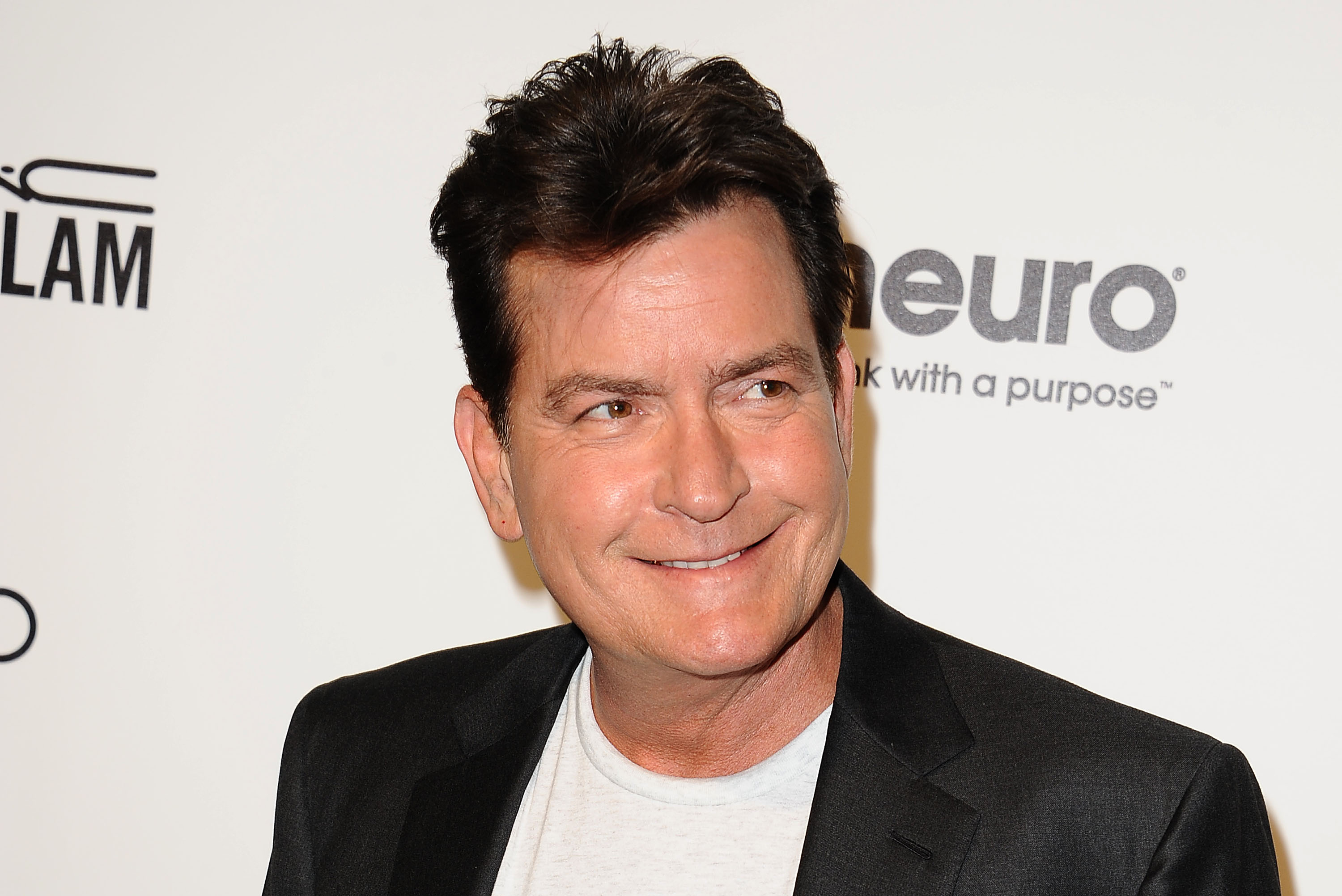 Actor Charlie Sheen attends the 24th annual Elton John AIDS Foundation's Oscar viewing party on Feb. 28, 2016 in West Hollywood, Calif.