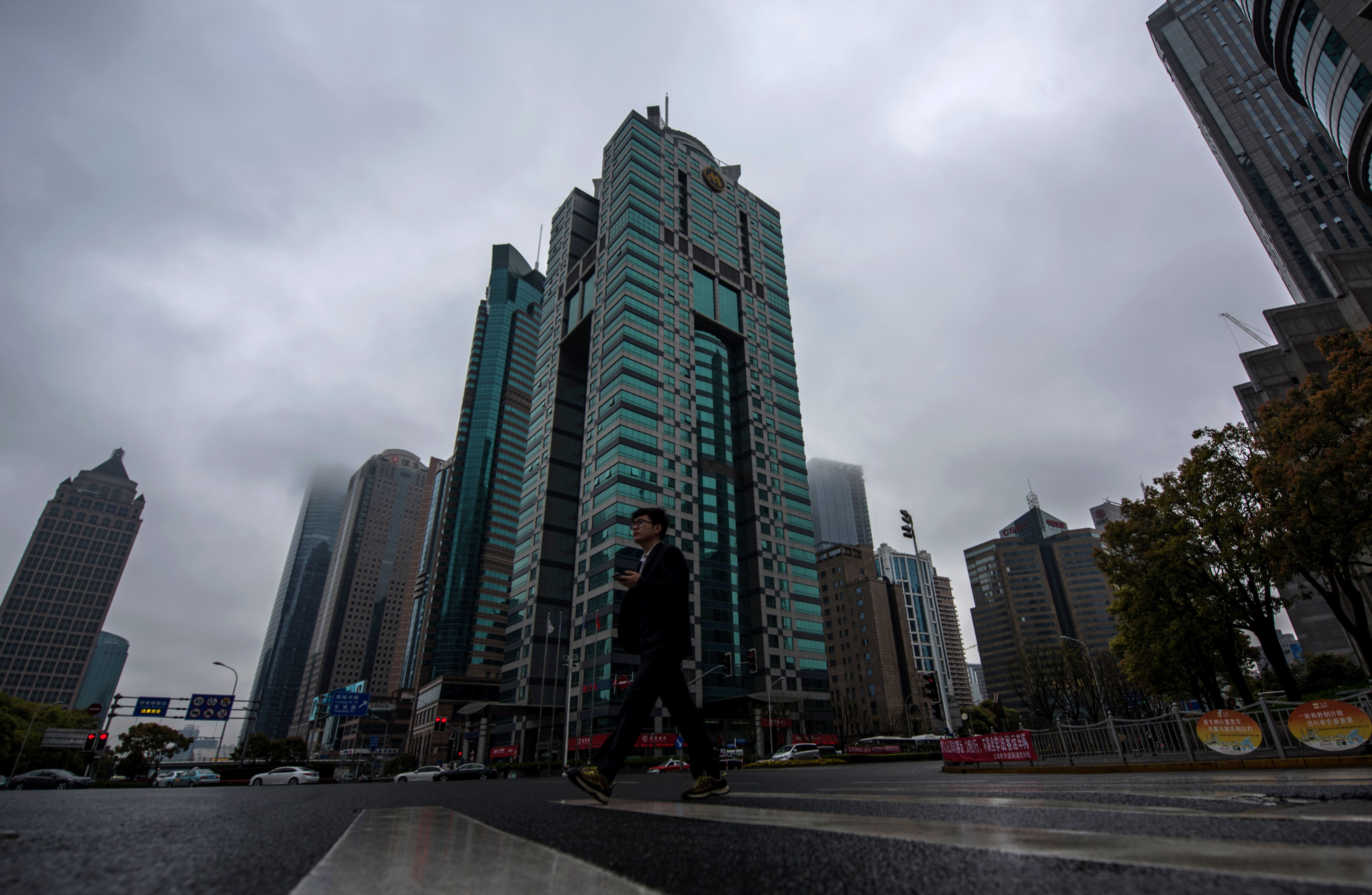 A general view shows a building, center, where the Panama-based law firm Mossack Fonseca has an office in Shanghai on April 6, 2016.                      The Panamanian law firm at the heart of a massive leak of offshore banking records has more offices in China than any other country, its website shows, raising questions about its activities in the communist-ruled country
