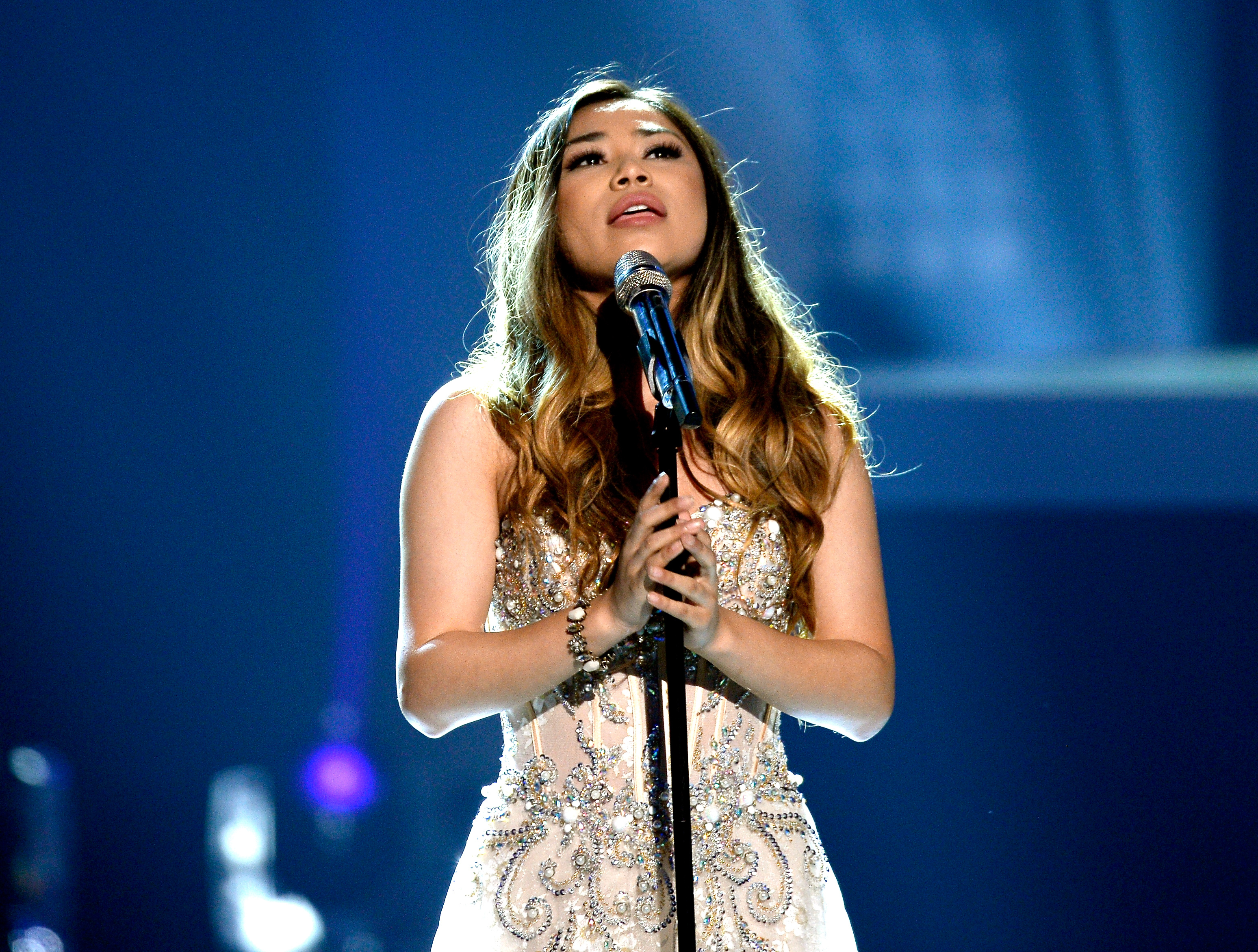 Recording artist Jessica Sanchez performs onstage during FOX's 'American Idol' Finale For The Farewell Season at Dolby Theatre on April 7, 2016
