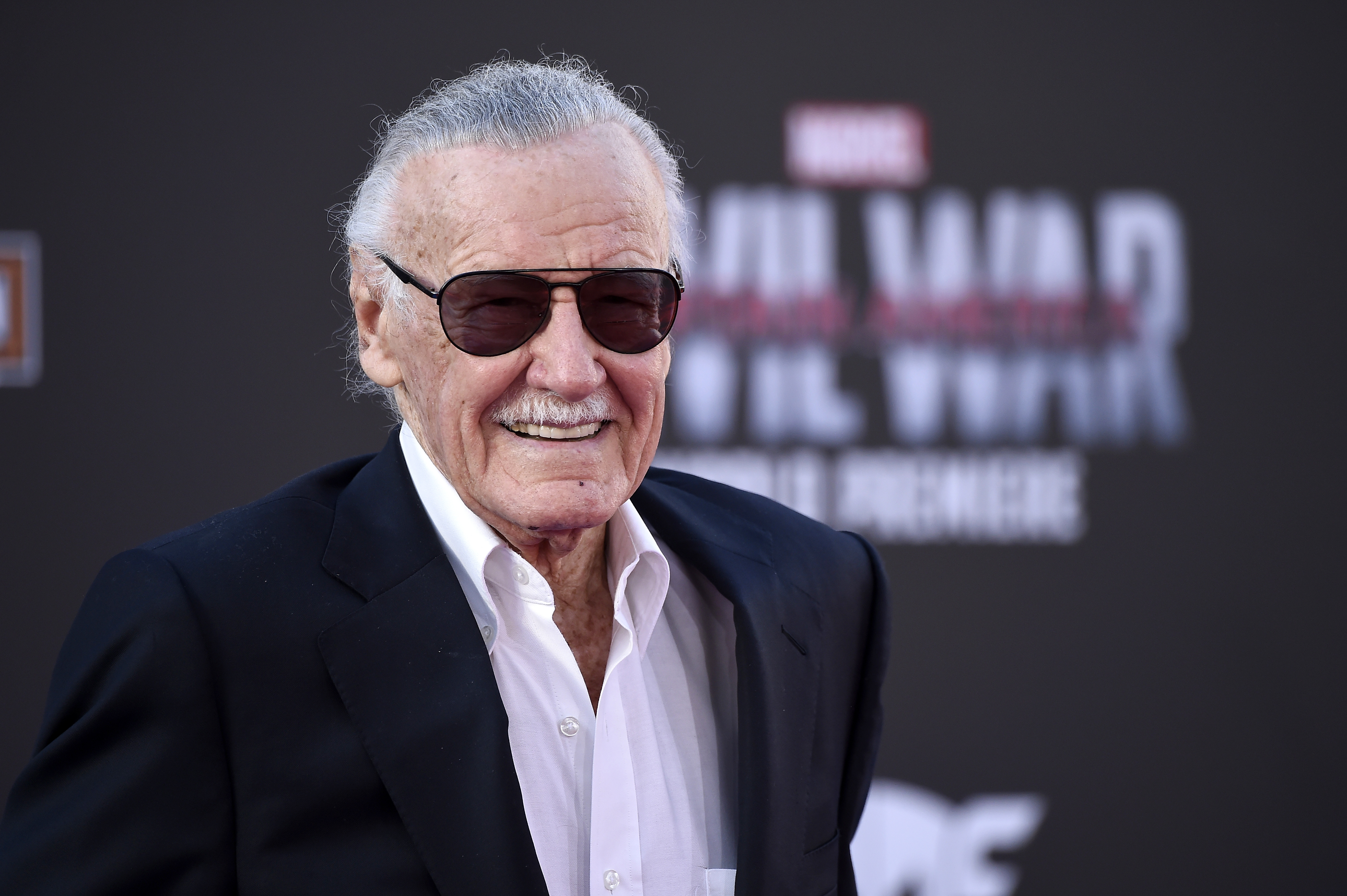 Stan Lee attends the premiere of Marvel's 'Captain America: Civil War' on April 12, 2016 in Los Angeles, Califor.