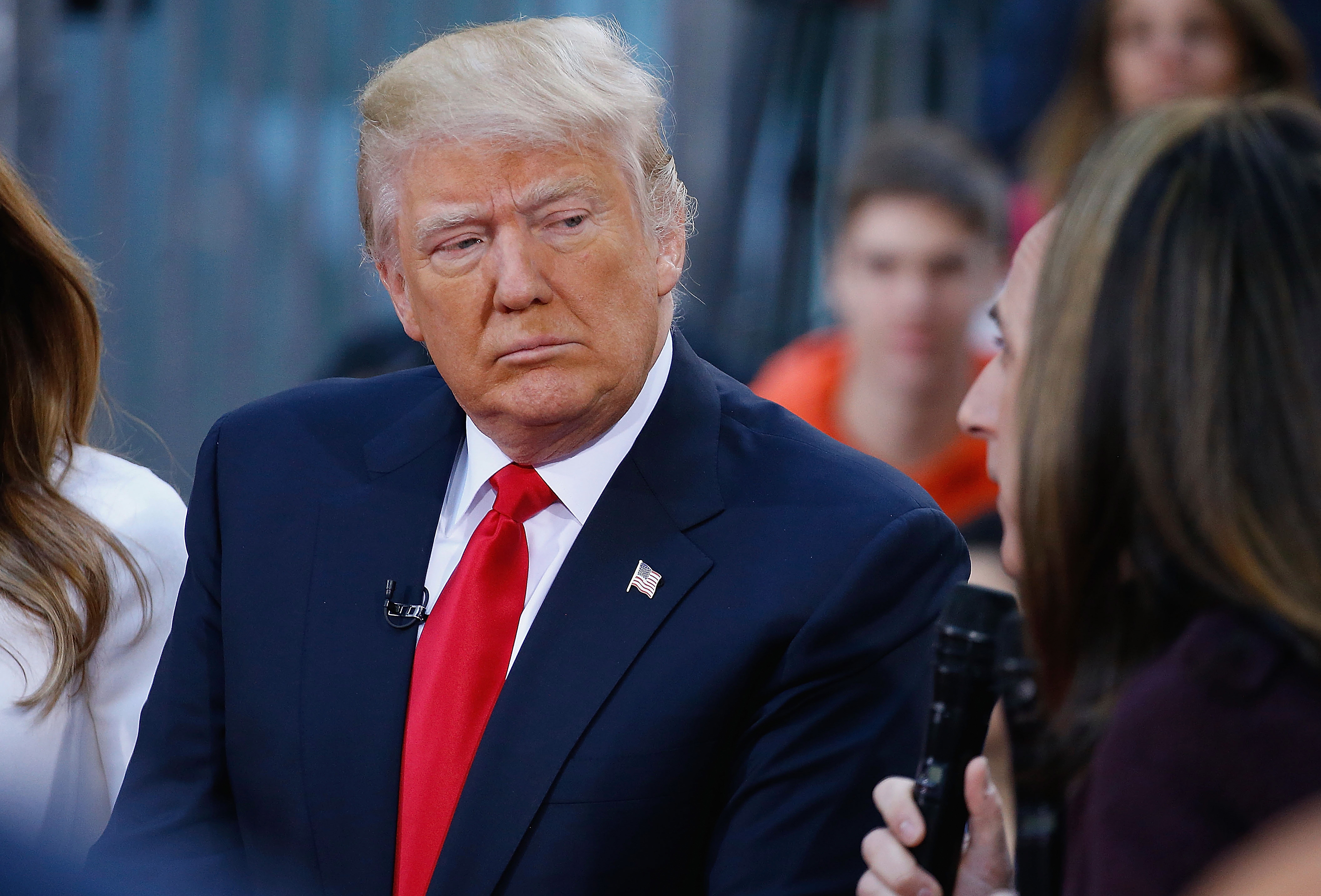 Presidential candidate Donald Trump attends NBC's  Today  Trump Town Hall at Rockefeller Plaza in New York City on April 21, 2016.