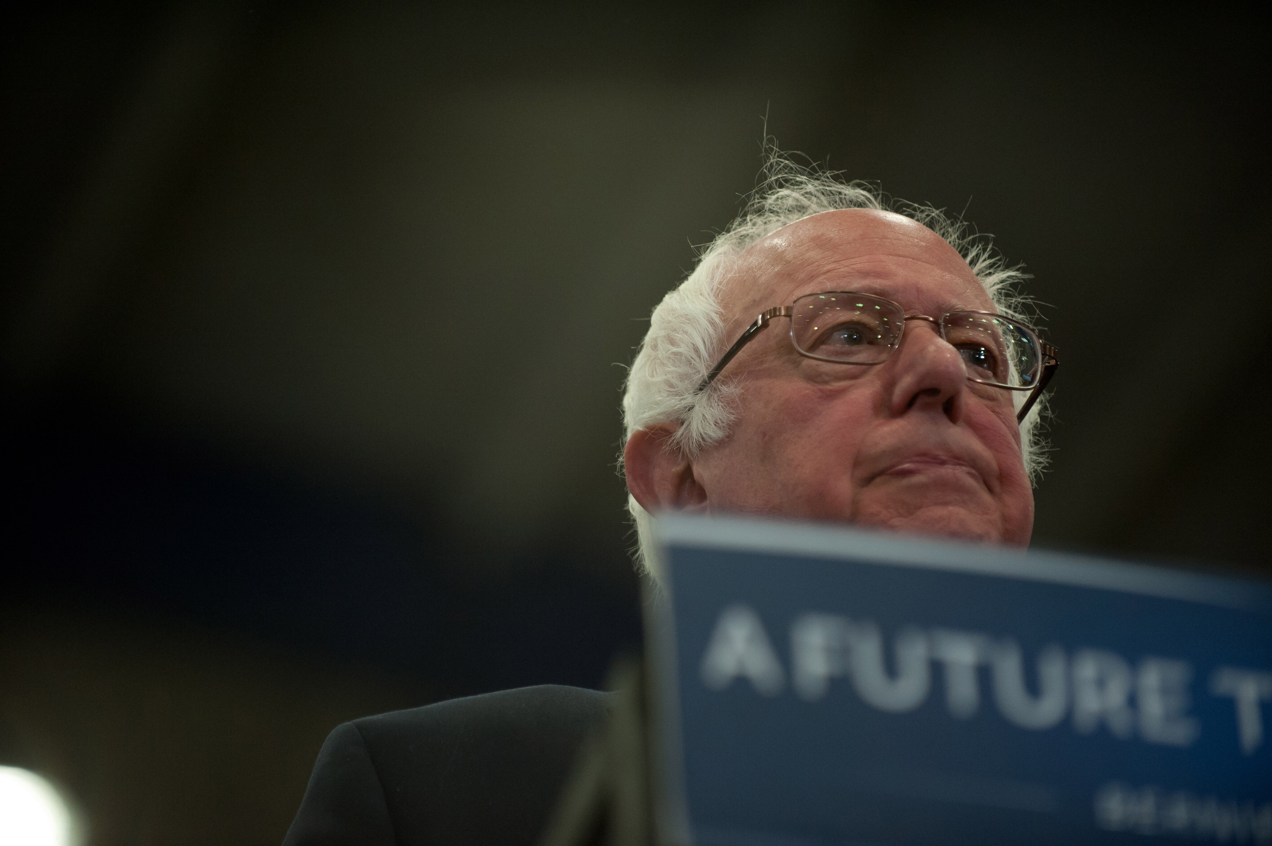 Democratic presidential candidate Bernie Sanders speaks during a rally at the Fitzgerald Field House on the campus of the University of Pittsburgh on April 25, 2016 in Pittsburgh, Pennsylvania.
