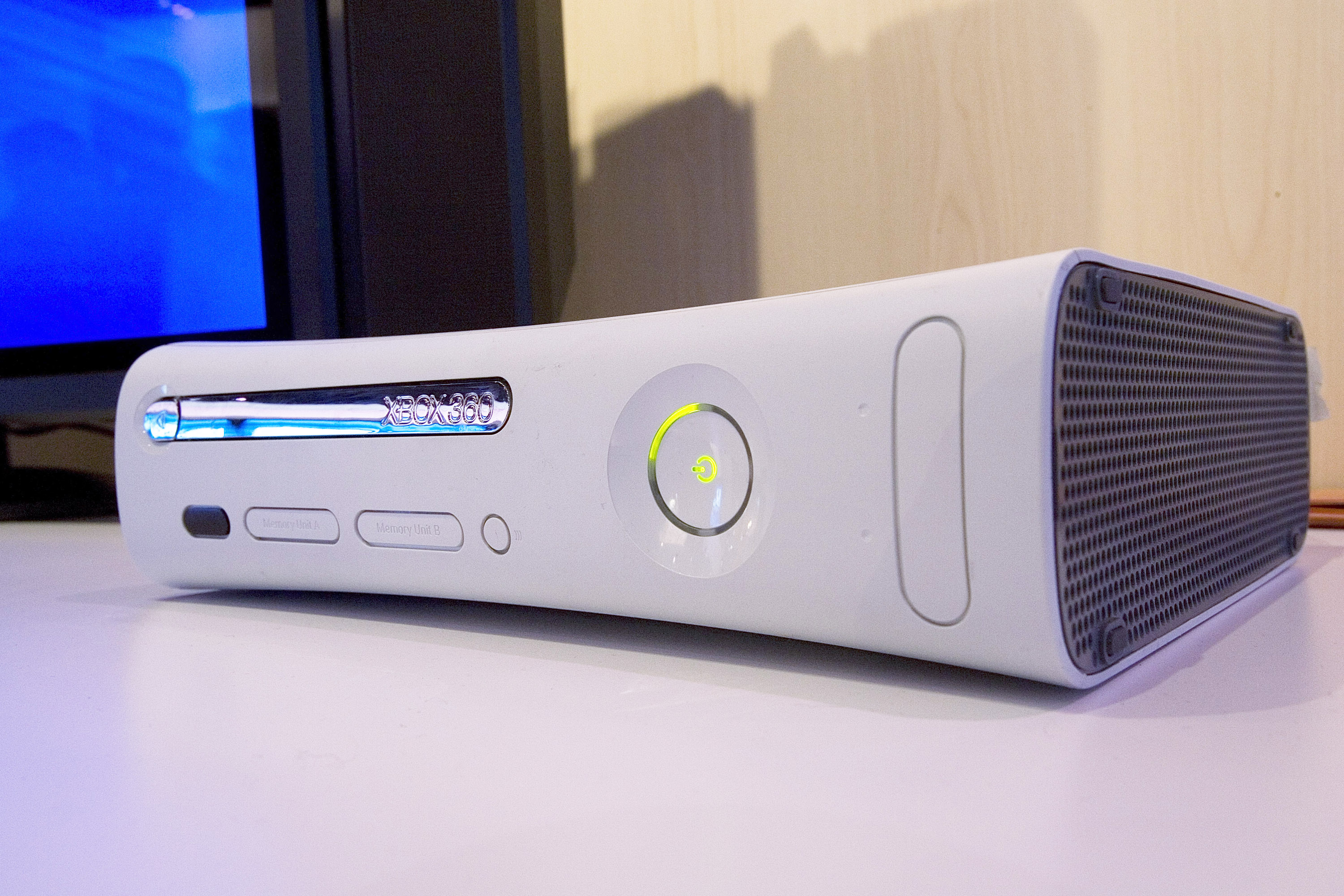 The Microsoft XBOX 360 is seen at the 2008 International Consumer Electronics Show at the Las Vegas Convention Center January 9, 2008 in Las Vegas, Nevada.