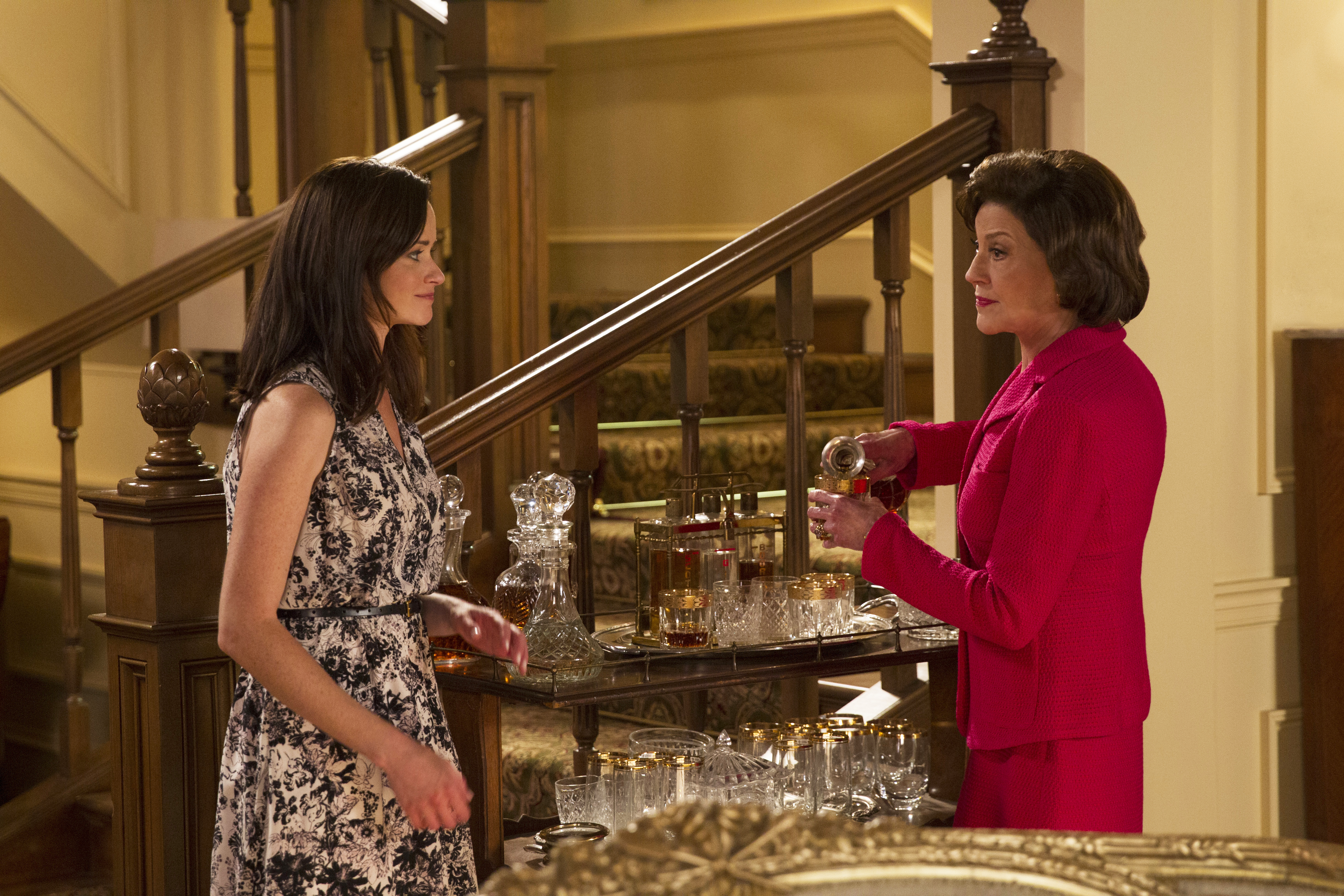 Alexis Bledel, as Rory Gilmore, and Kelly Bishop, as Emily Gilmore.