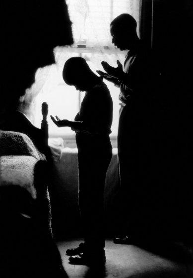 Daily Prayer, Brooklyn, 1963, from Black Muslims.