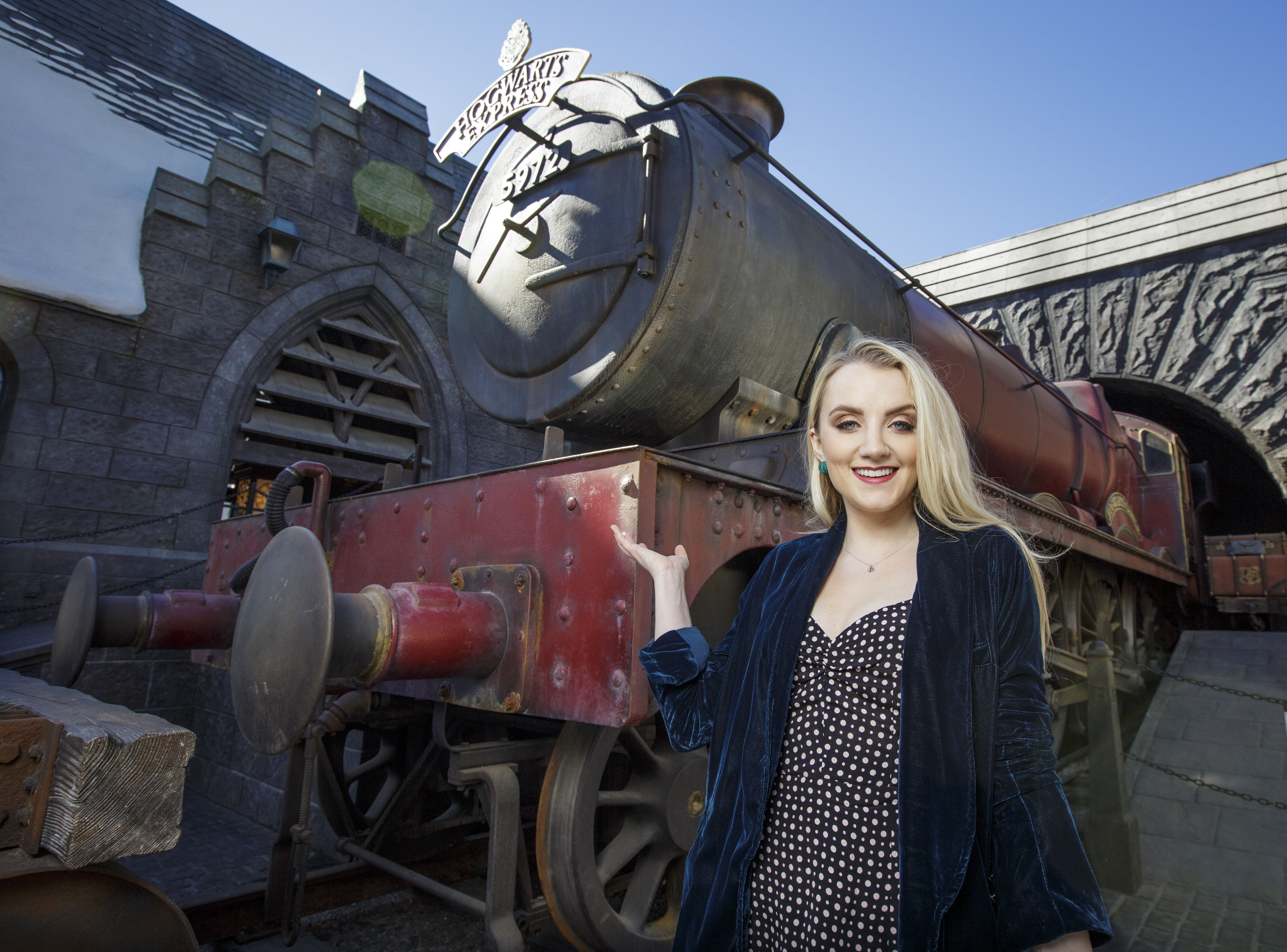 Evanna Lynch, who played Luna Lovegood, at Hogwarts Express.