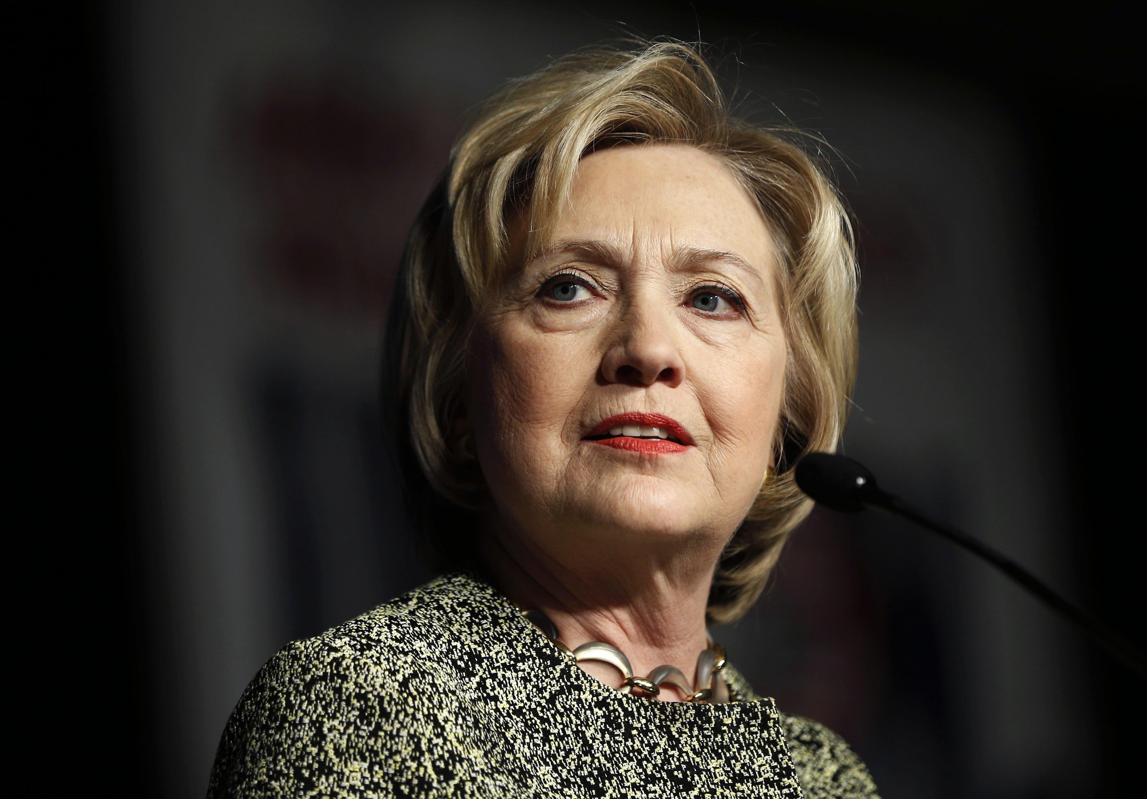 Hillary Clinton speaks at the Pennsylvania AFL-CIO Convention in Philadelphia on April 6, 2016.