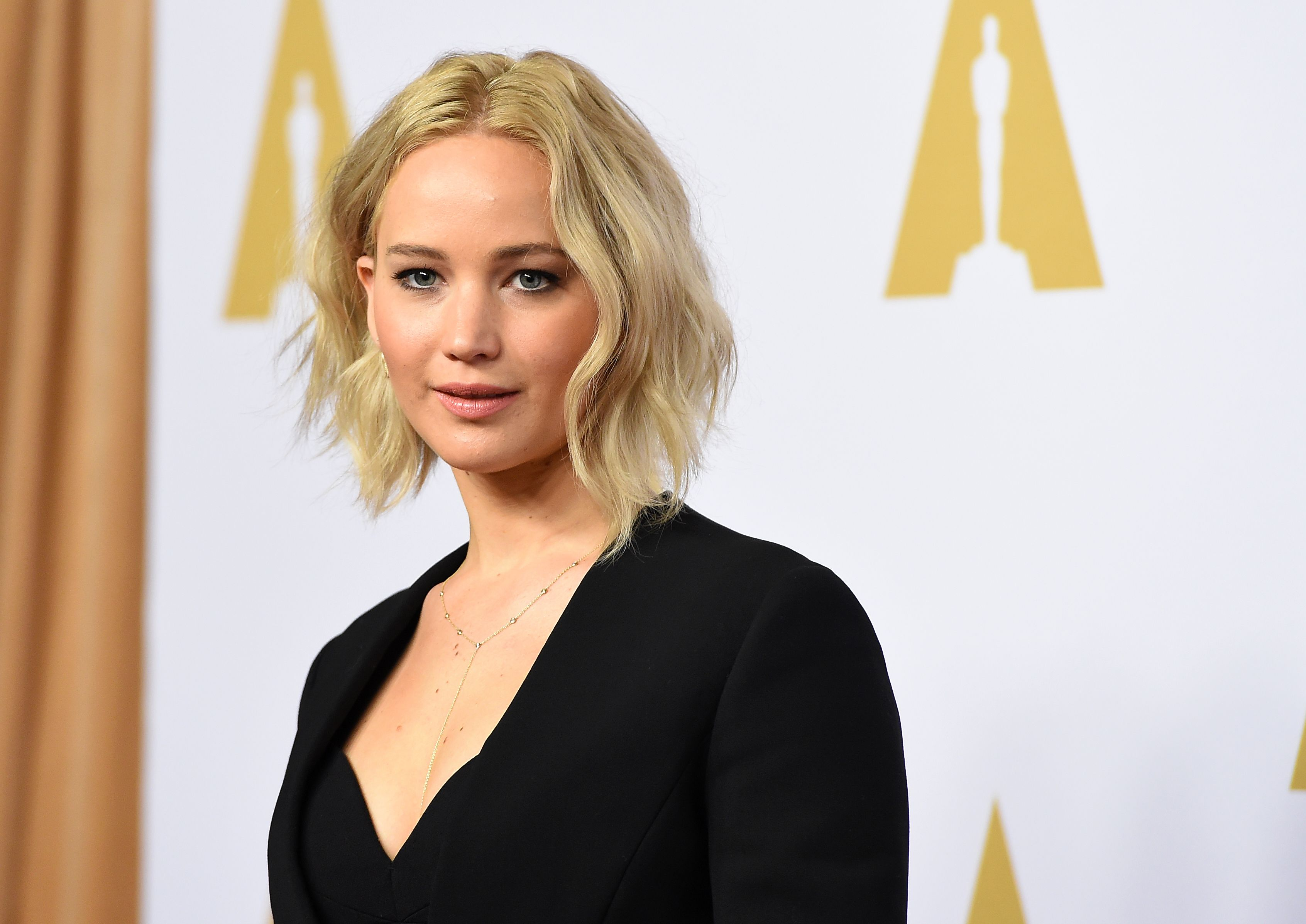 Jennifer Lawrence, nominee for best actress in a leading role, arrives at the 88th Oscar Nominees Luncheon in Beverly Hills, California, February 8, 2016