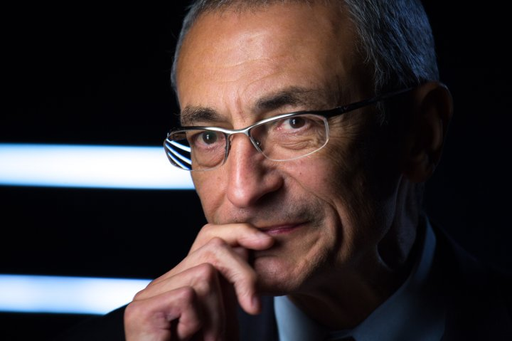 Former Clinton White House Chief of Staff John Podesta is interviewed on Nov. 9, 2012, in Washington.