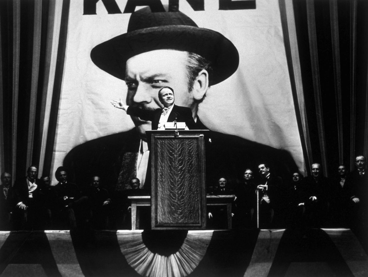 Orson Welles in his film 'Citizen Kane', 1941