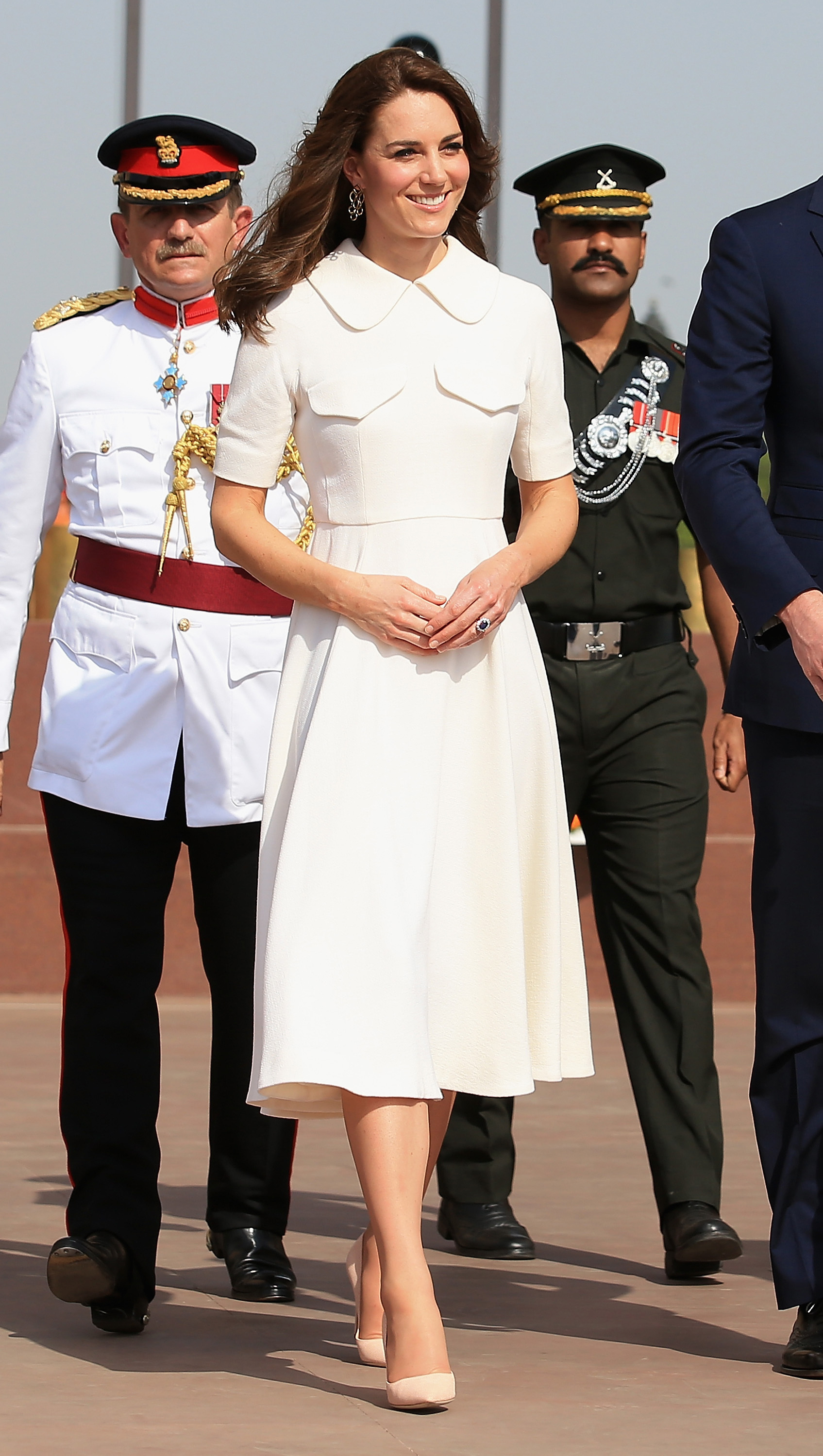 The Duchess of Cambridge during a visit to India Gate in New Dehli, India on April 11, 2016.