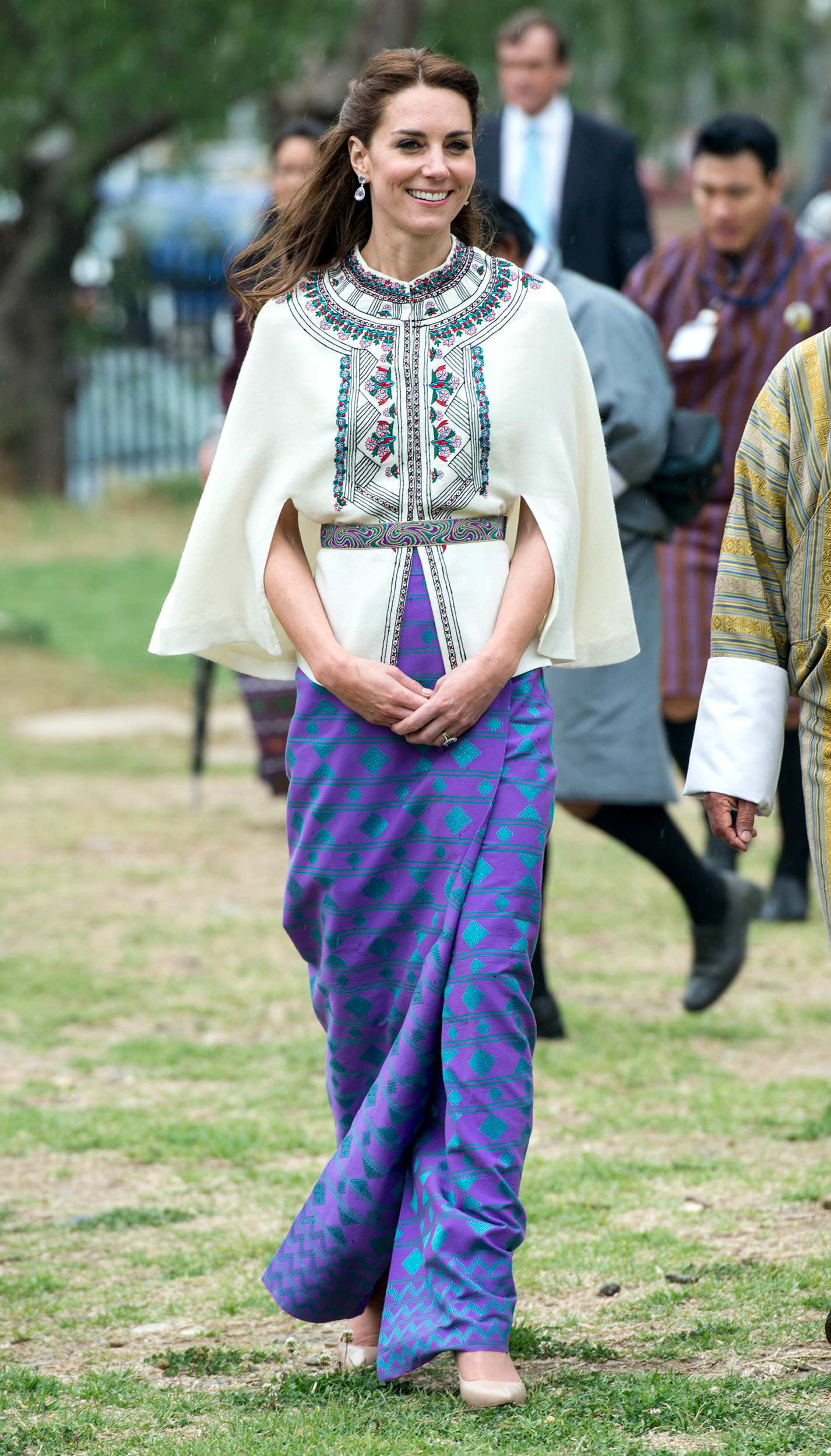 Catherine, Duchess of Cambridge visits Thimphu's open-air archery venue in Thimphu, Bhutan on April 14, 2016.