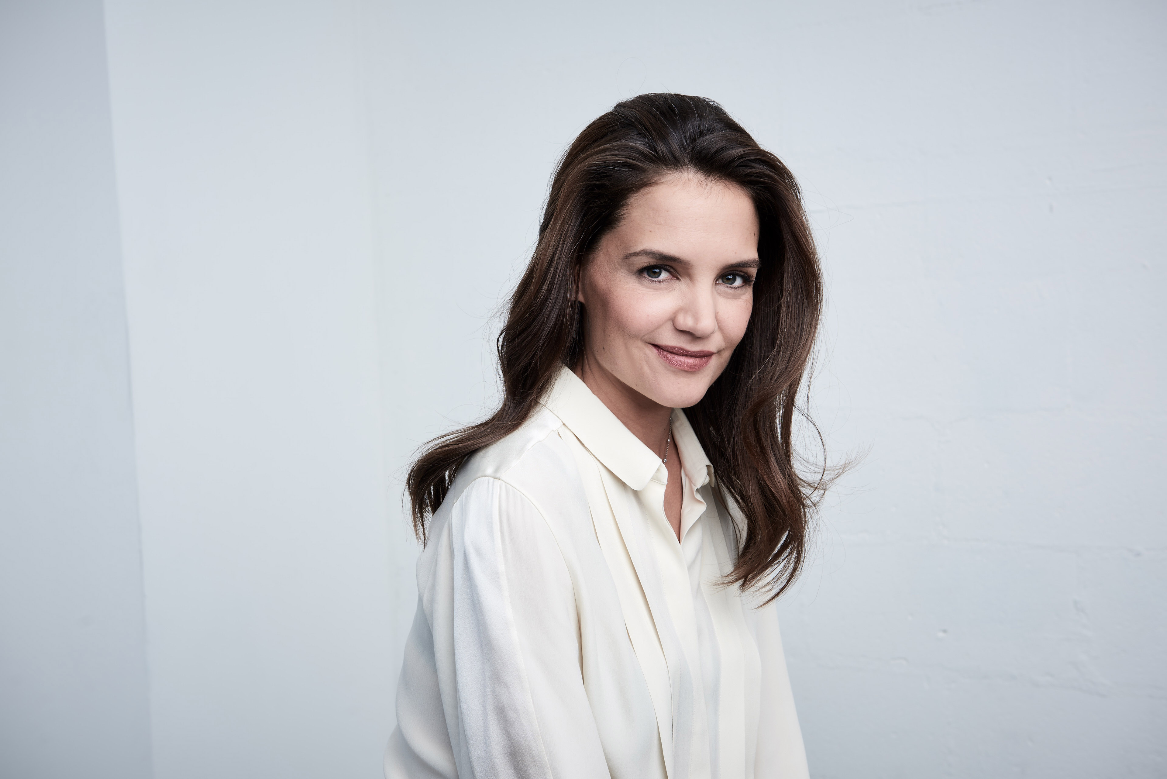 Katie Holmes from  All We Had  poses at the Tribeca Film Festival Getty Images Studio on April 16, 2016 in New York City.