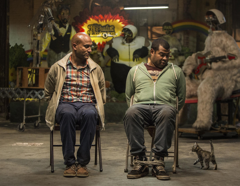 Keegan-Michael Key, left, and Jordan Peele, right, in a scene from Keanu.