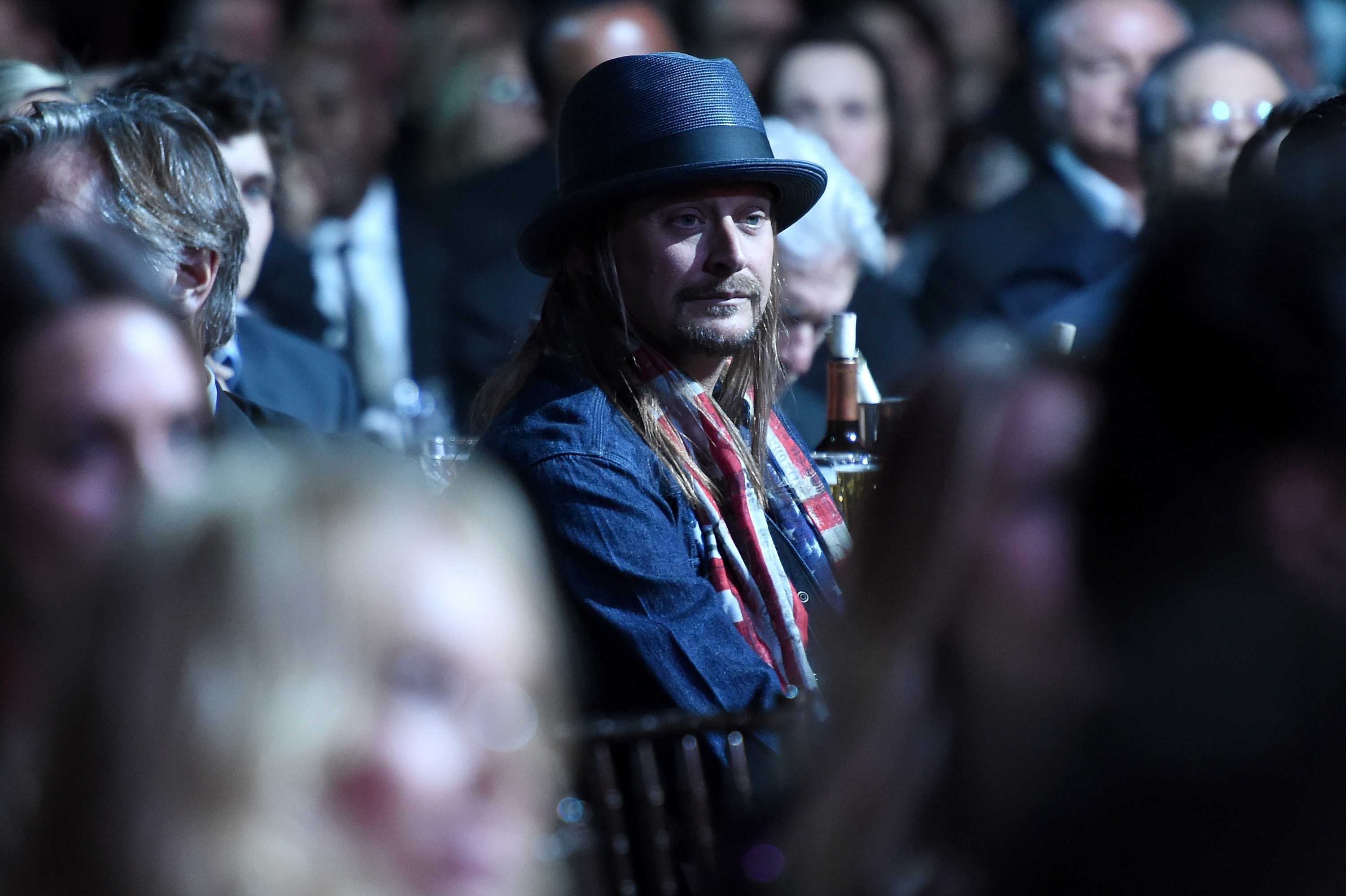 Kid Rock attends the Rock And Roll Hall Of Fame Induction Ceremony in New York City, on April 8, 2016.