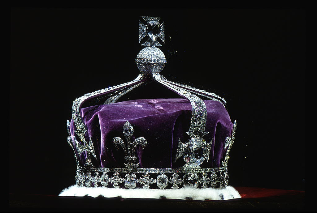 The Queen Mother's Crown contains the famous Koh-i-Noor diamond, along with other gems.