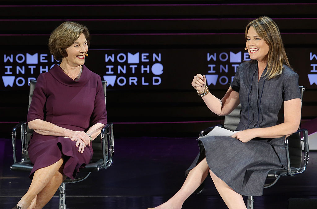 Laura Bush speaks onstage during Tina Brown's 7th Annual Women In The World Summit on April 7, 2016 in New York City.