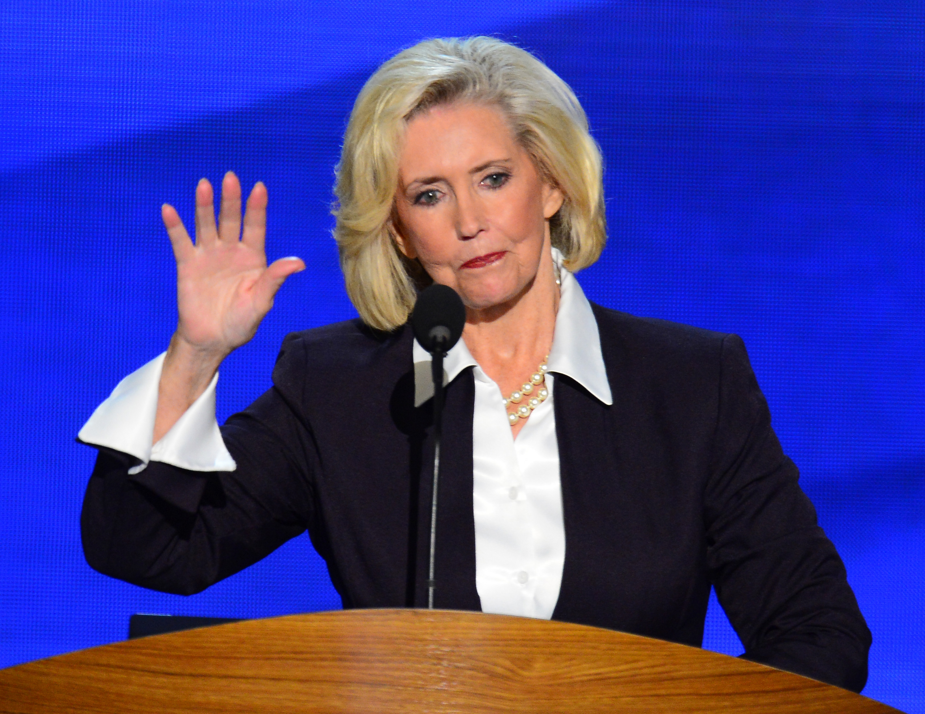 Lilly Ledbetter, namesake of the Lilly Ledbetter Fair Pay Act speaks at the 2012 Democratic National Convention at the Time Warner Cable Arena in Charlotte, North Carolina, Tuesday, September 4, 2012.