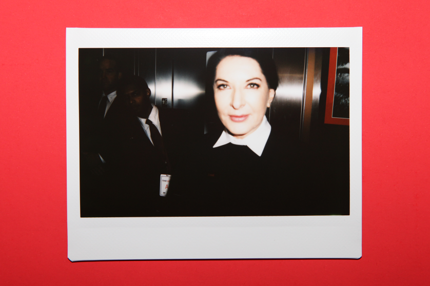 Marina Abramović arrives at the TIME 100 Gala at the Time Warner Center on April 26, 2016 in New York City.