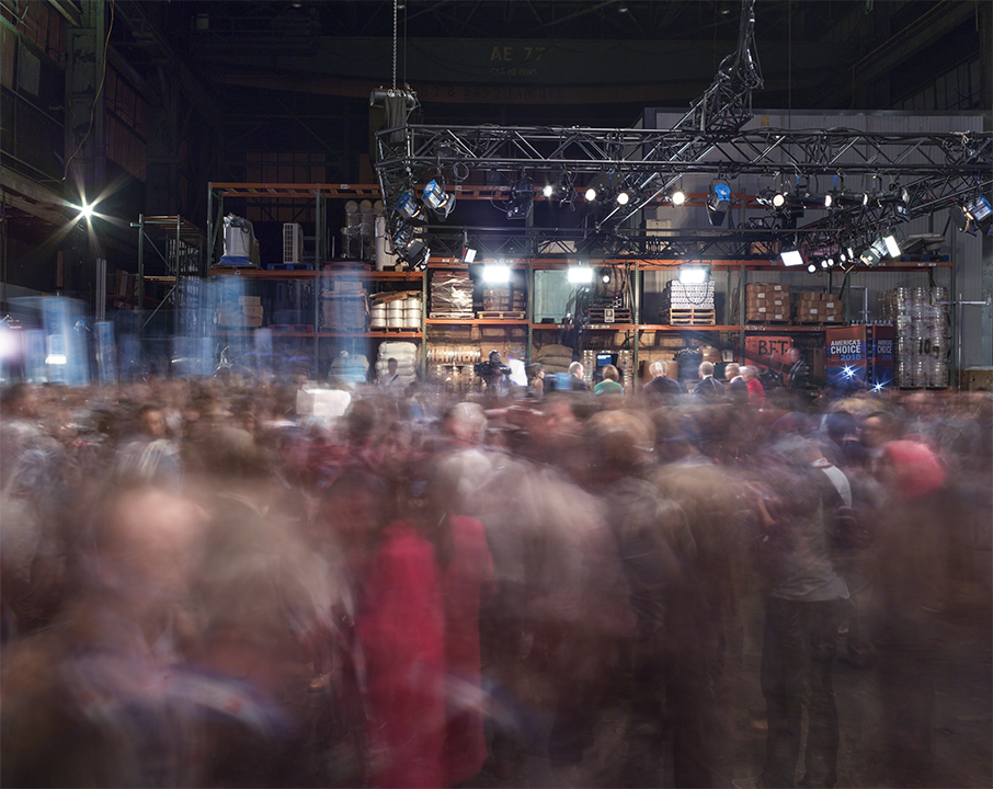The  spin room  at the Democratic presidential debate in Brooklyn, N.Y. April 14, 2016.