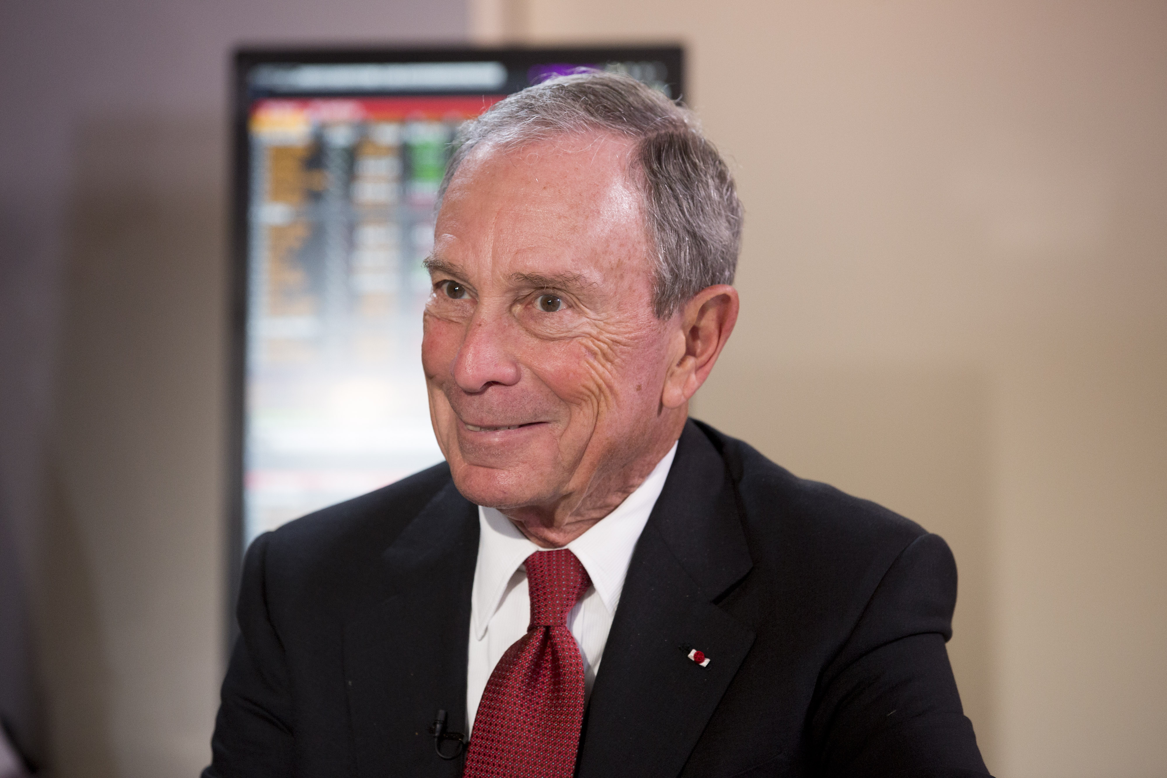 Michael Bloomberg, United Nations special envoy for cities and climate change and founder of Bloomberg LP, reacts during a news conference at the United Nations COP21 climate summit at Le Bourget in Paris, France, on Dec. 4, 2015.
