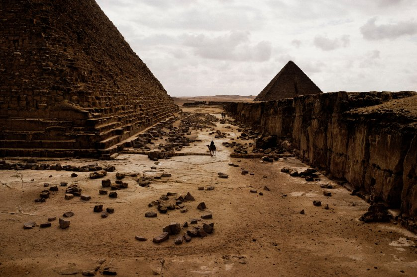 Cairo, Egypt. 2013.The Pyramids of Giza.