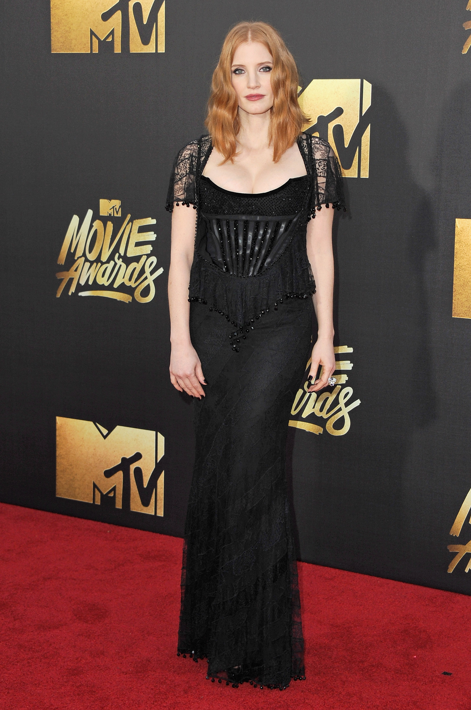 Jessica Chastain attends the 2016 MTV Movie Awards at Warner Bros. Studios on April 9, 2016 in Burbank, Calif.