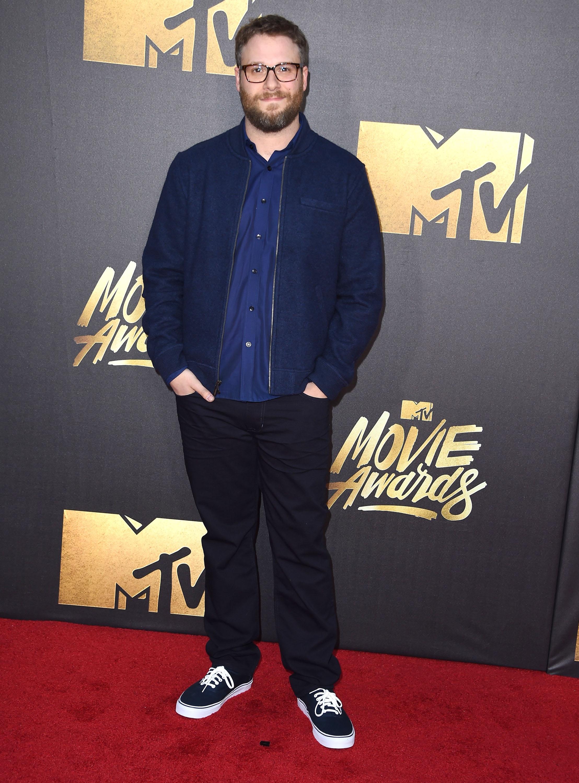 Seth Rogen attends the 2016 MTV Movie Awards at Warner Bros. Studios on April 9, 2016 in Burbank, Calif.