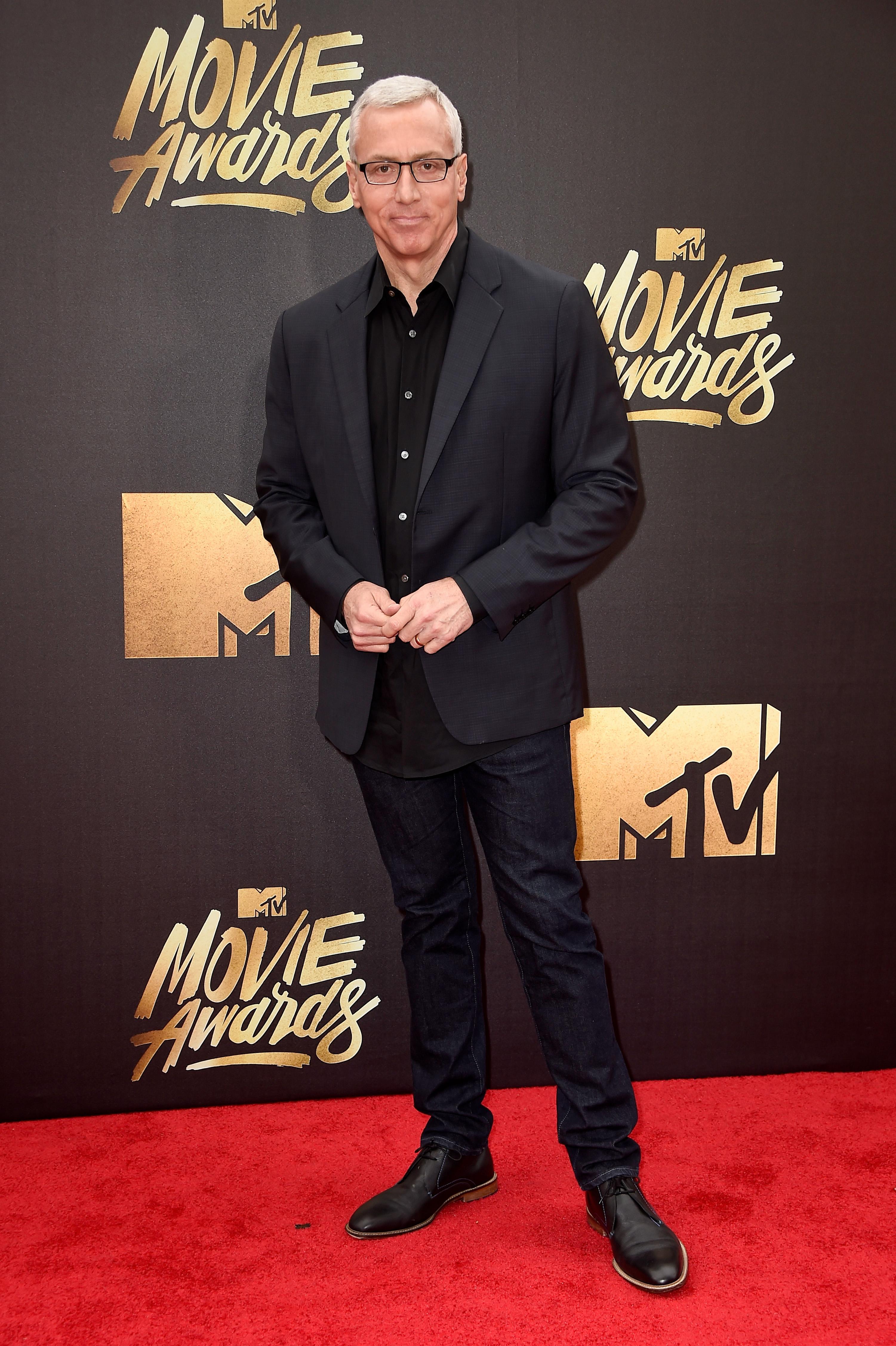 Dr. Drew Pinsky attends the 2016 MTV Movie Awards at Warner Bros. Studios on April 9, 2016 in Burbank, Calif.