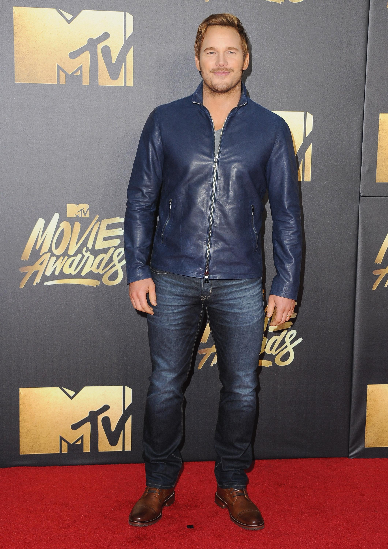 Chris Pratt attends the 2016 MTV Movie Awards at Warner Bros. Studios on April 9, 2016 in Burbank, Calif.