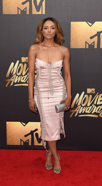 Kat Graham attends the 2016 MTV Movie Awards at Warner Bros. Studios on April 9, 2016 in Burbank, Calif.