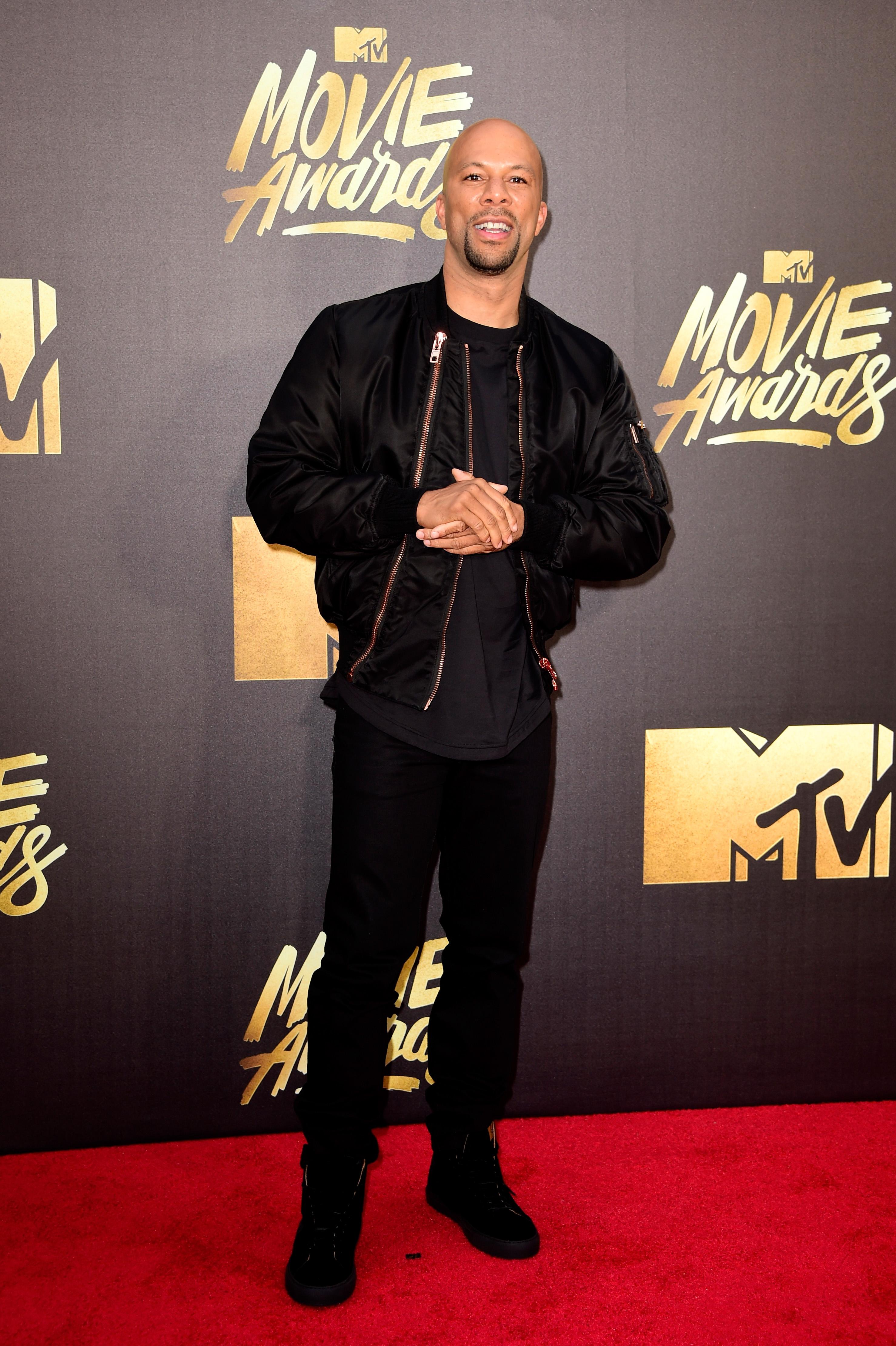 Common attends the 2016 MTV Movie Awards at Warner Bros. Studios on April 9, 2016 in Burbank, Calif.