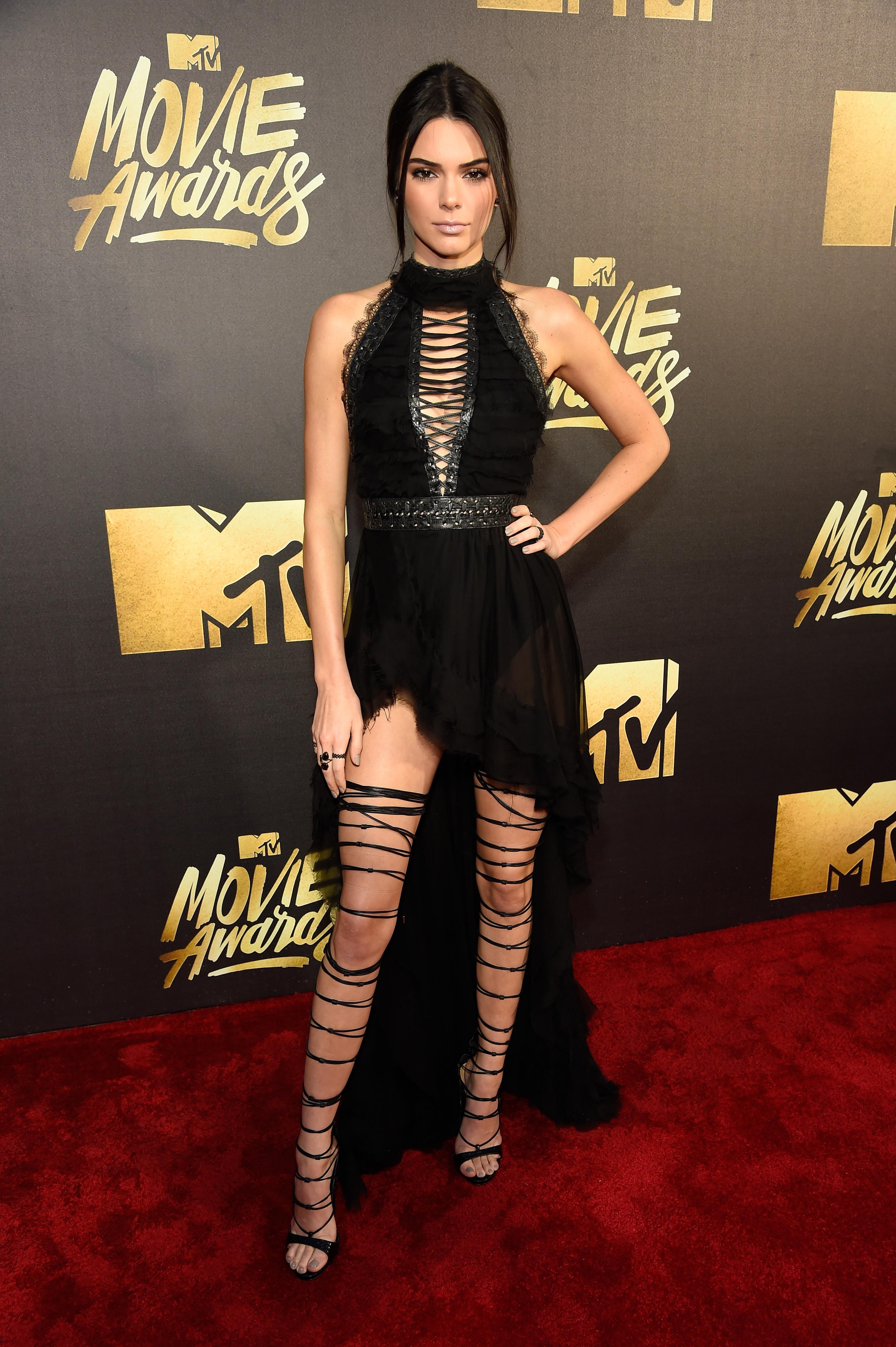 Kendall Jenner attends the 2016 MTV Movie Awards at Warner Bros. Studios on April 9, 2016 in Burbank, Calif.