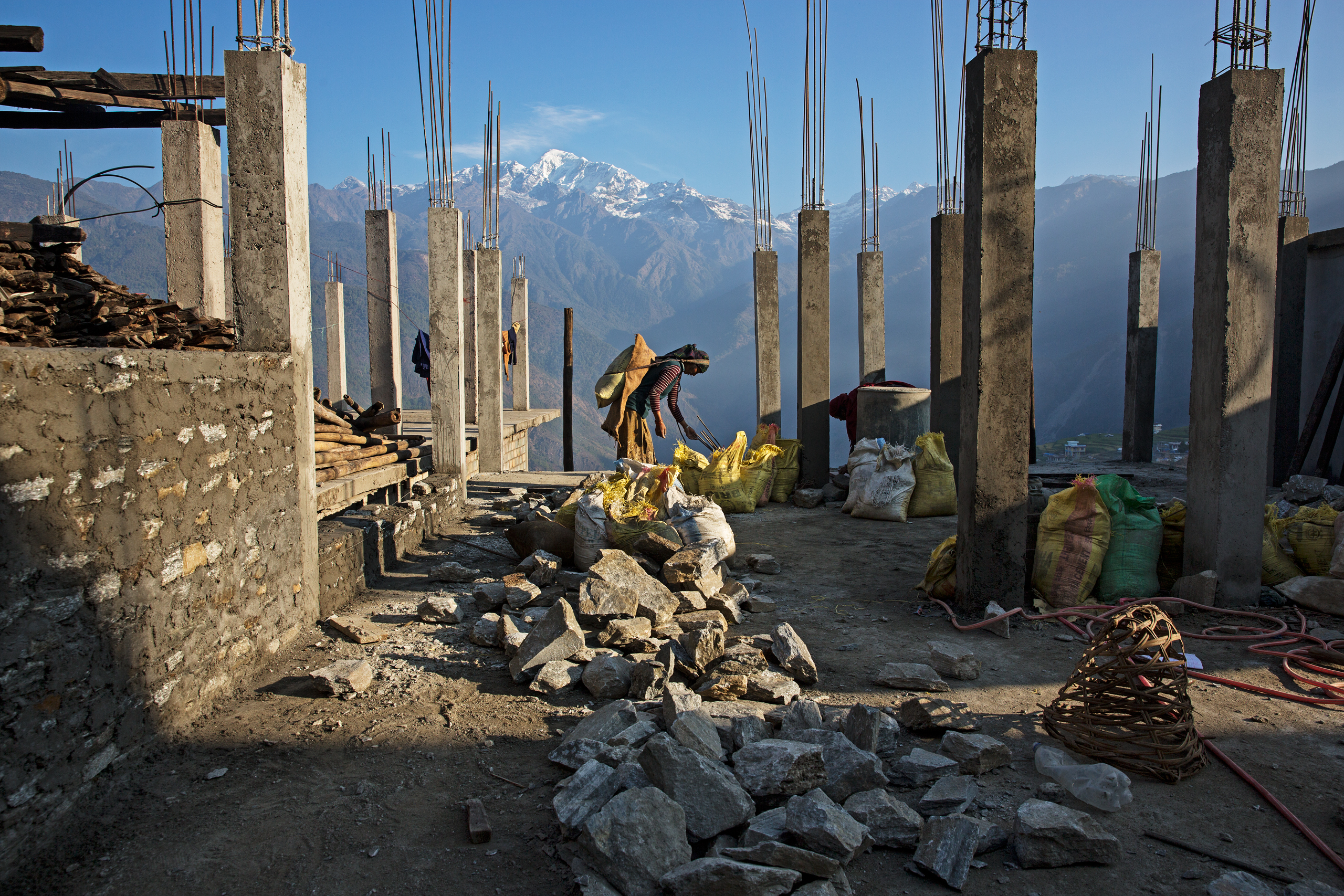 The Himalayan mountain village of Barpak was at the epicenter of the quakes