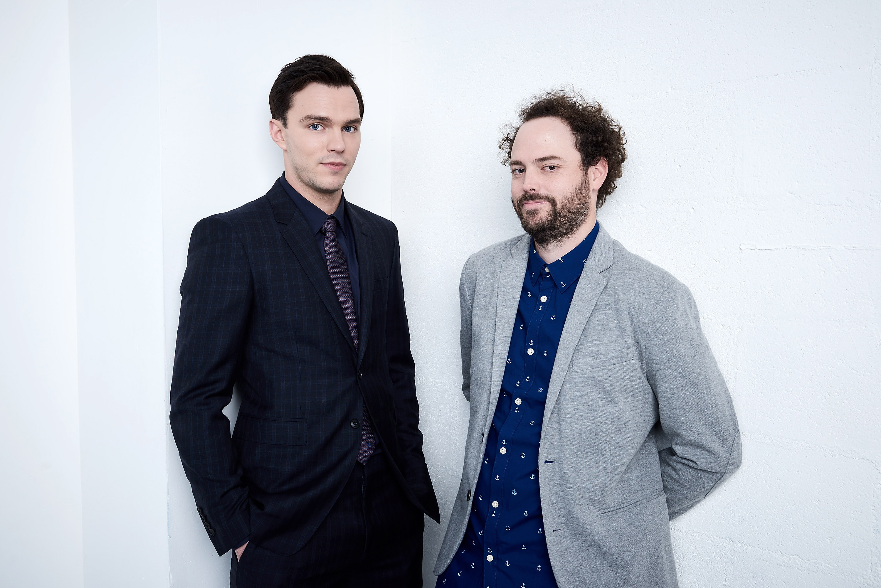 Nicholas Hoult and director Drake Doremus from  Equals  pose at the Tribeca Film Festival Getty Images Studio on April 18, 2016 in New York City.