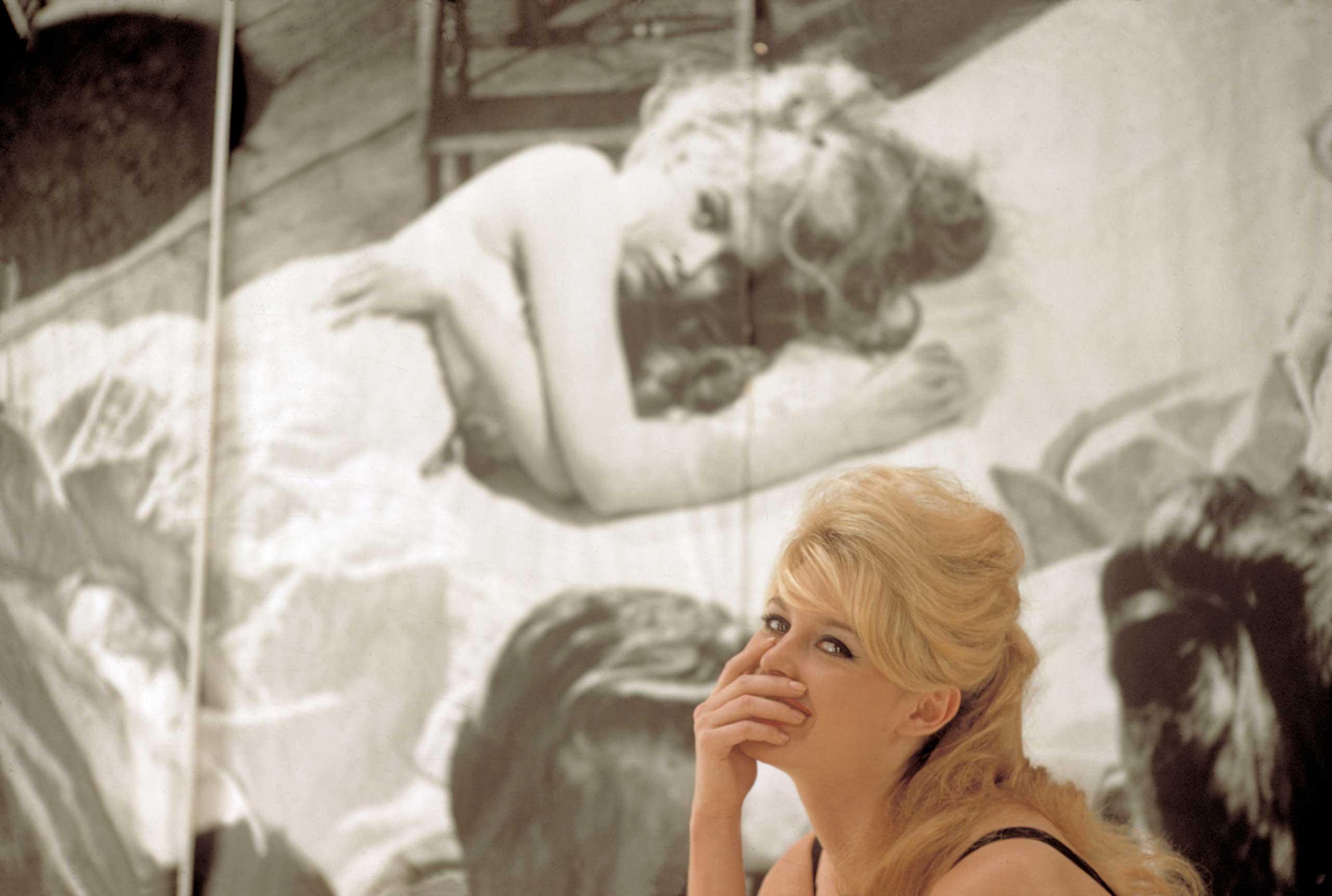 The French Actress Brigitte BARDOT. FRANCE. Paris, 1958.