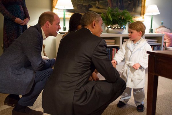 Barack Obama Greeted By Prince George In A Robe Photo Time,What Color Goes With Purple And Green