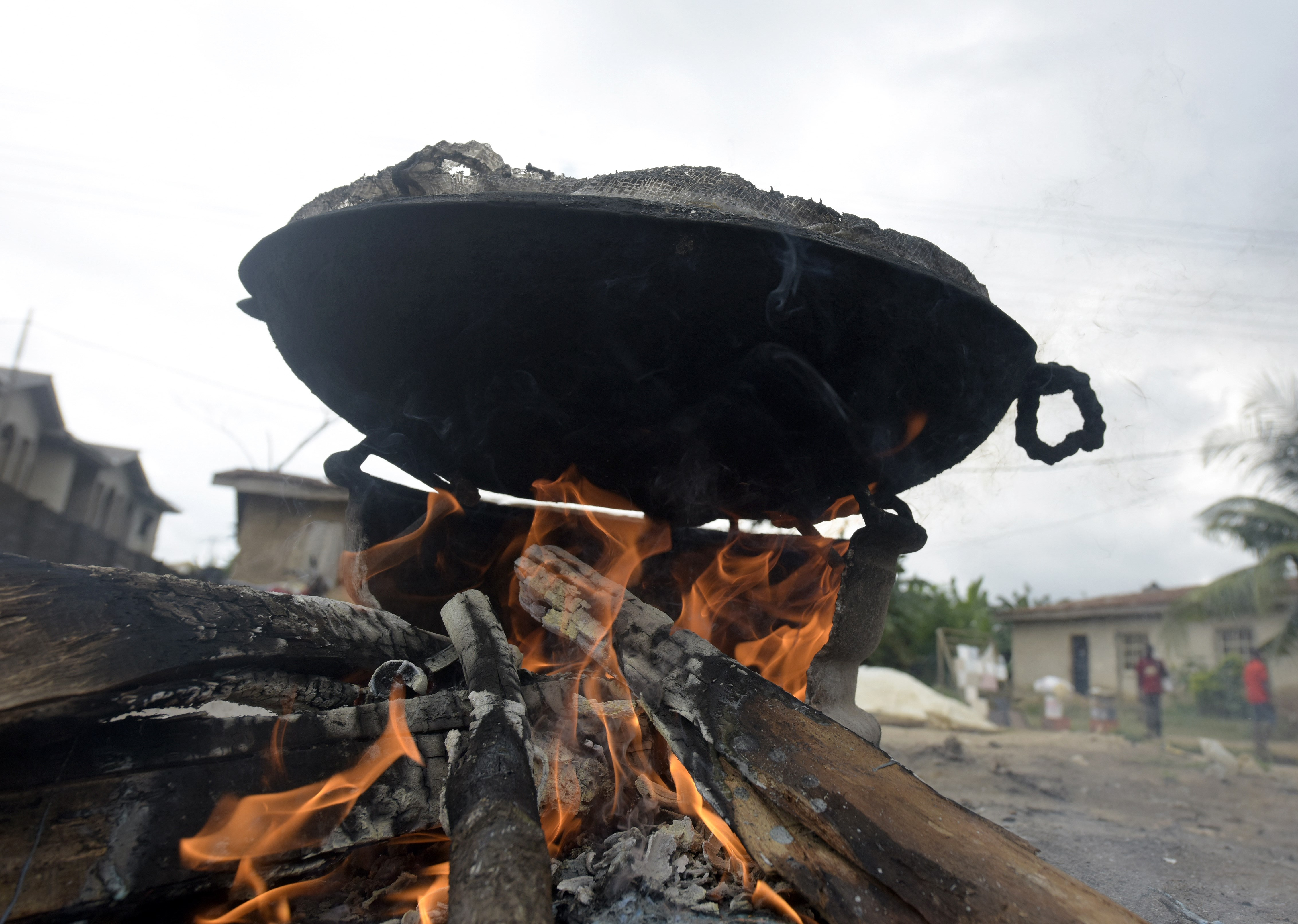 Firewood, seen here on August 22, 2015, is largely used for cooking in sub-Saharan Africa.