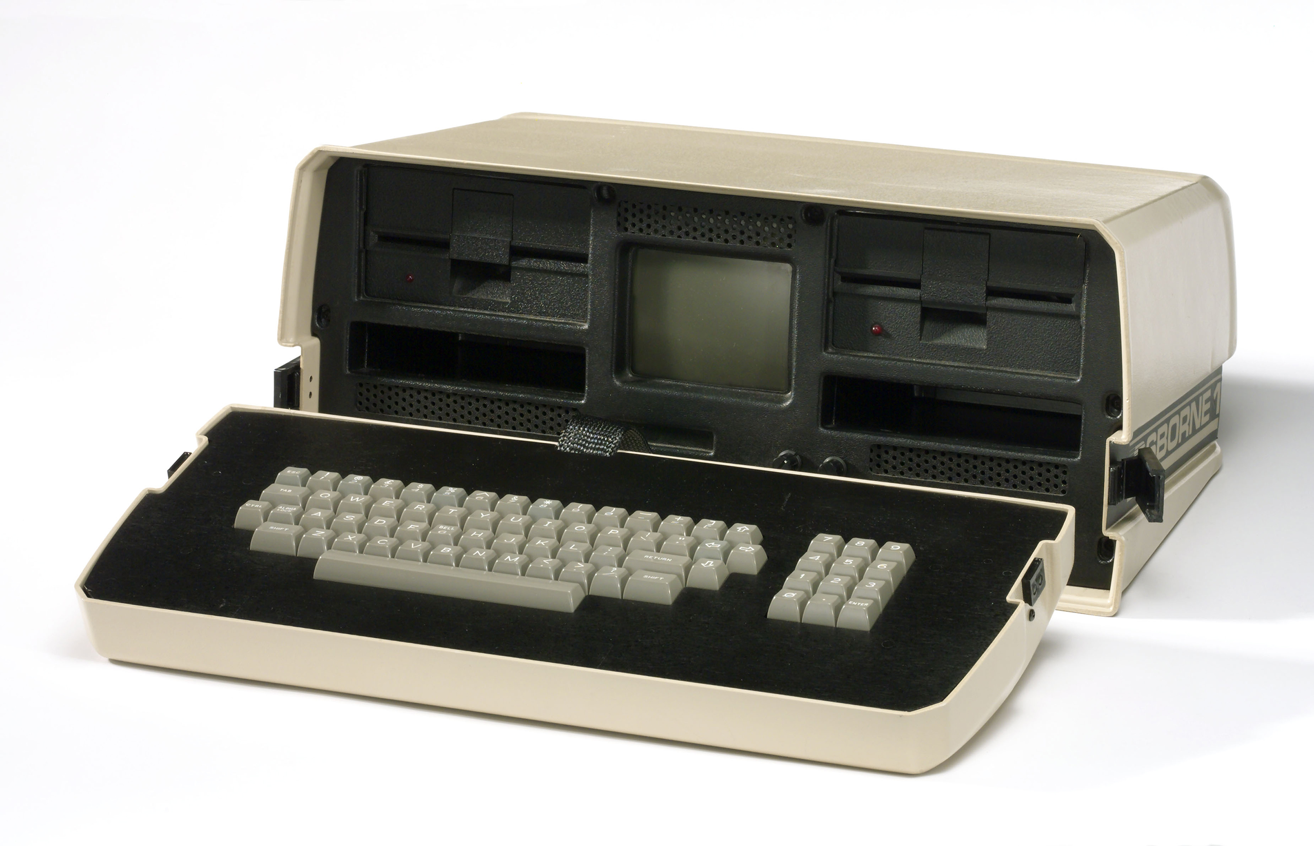 Osborne 1 portable microcomputer, c 1981.