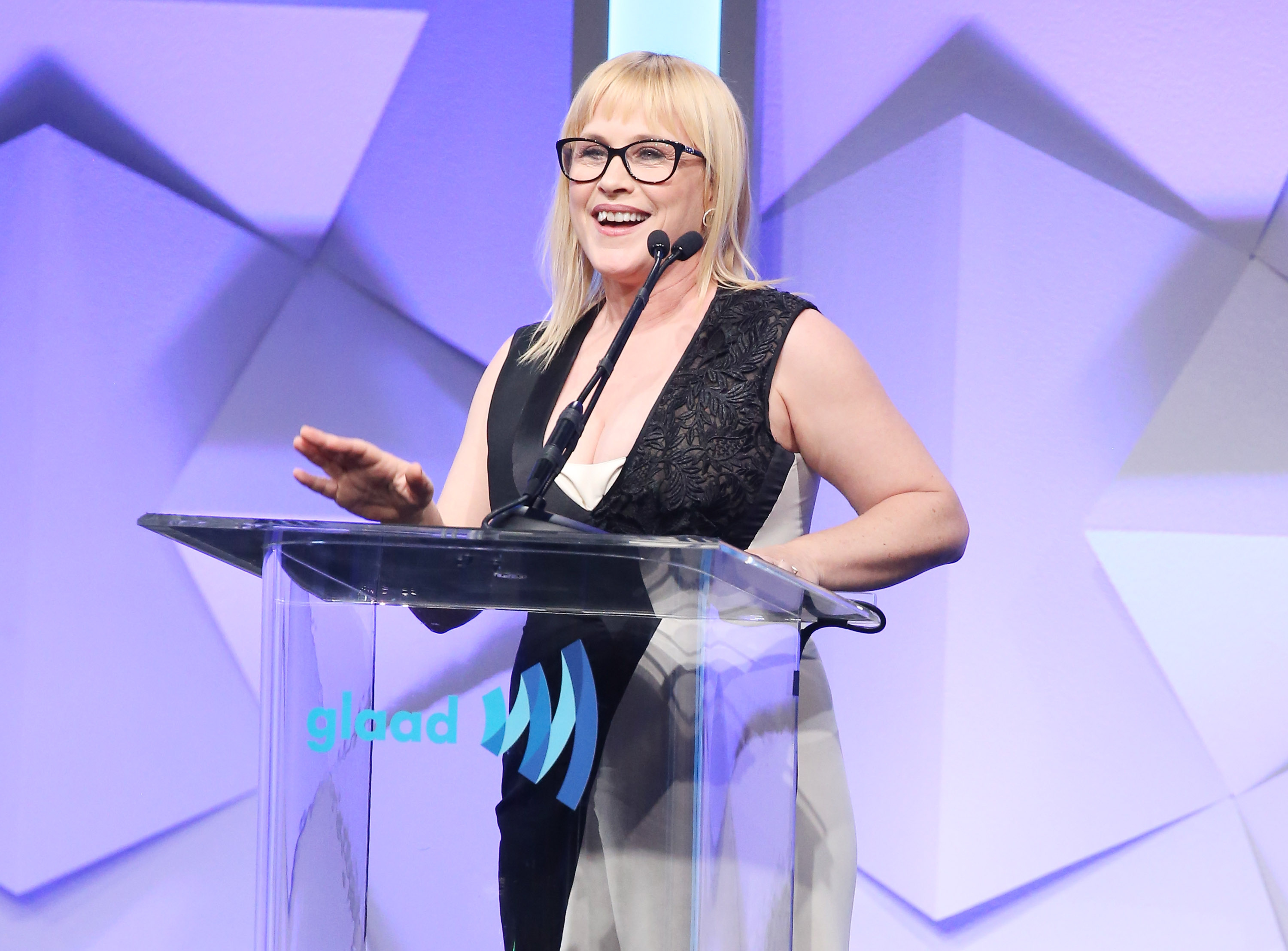 Patricia Arquette speaks onstage during the 27th Annual GLAAD Media Awards held at The Beverly Hilton Hotel on April 2, 2016 in Beverly Hills, California.