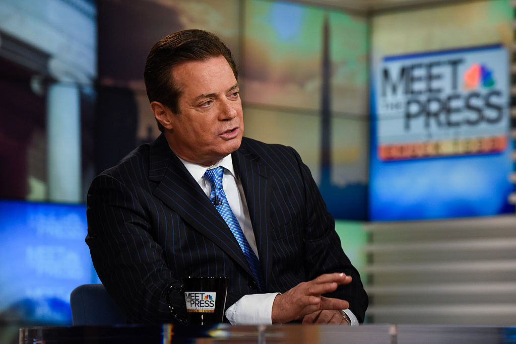 Paul Manafort appears on  Meet the Press  in Washington, D.C. on April 10, 2016.